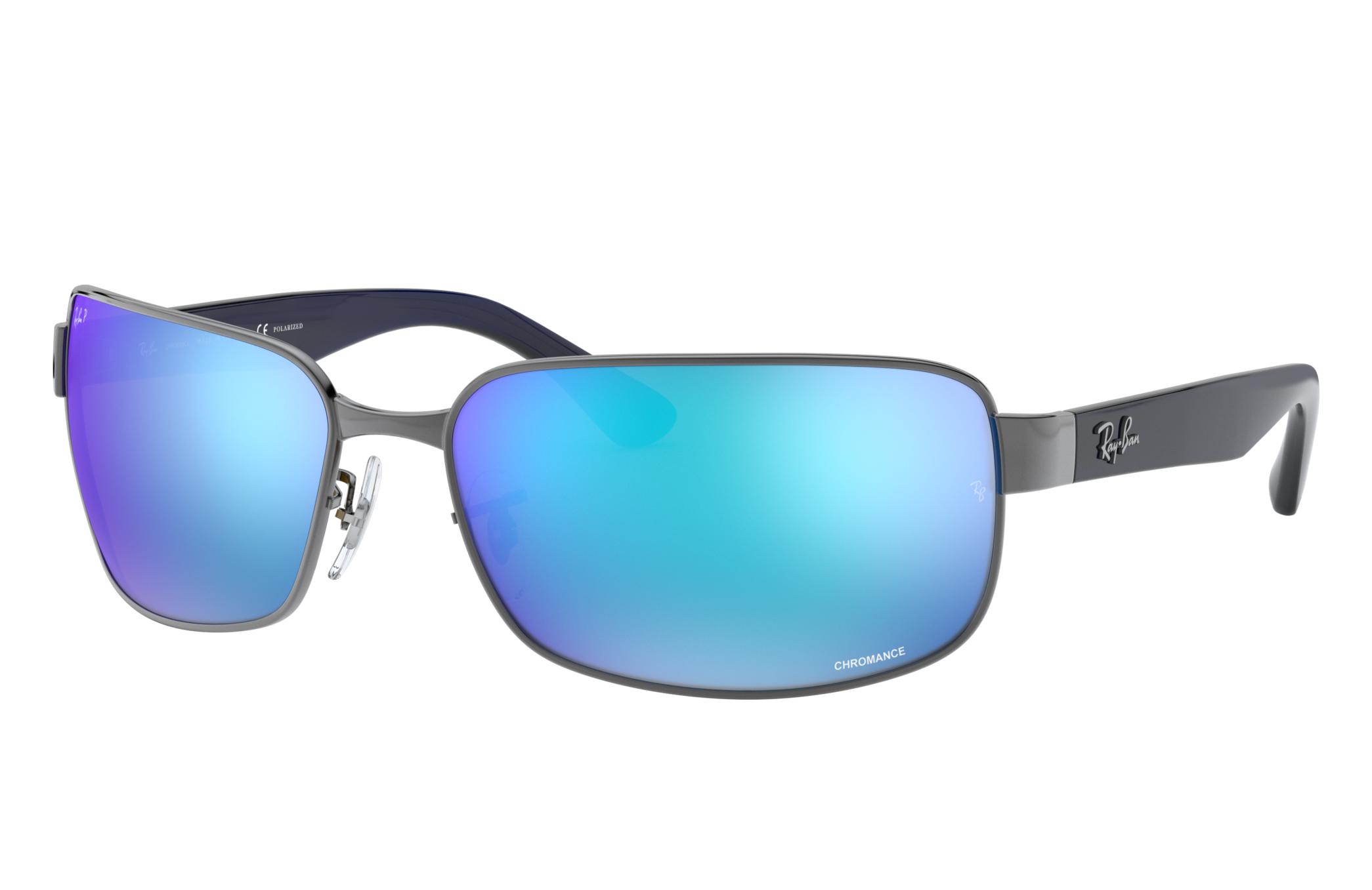 Ray-Ban Rb3566 Chromance Blue, Polarized Blue Lenses - RB3566CH