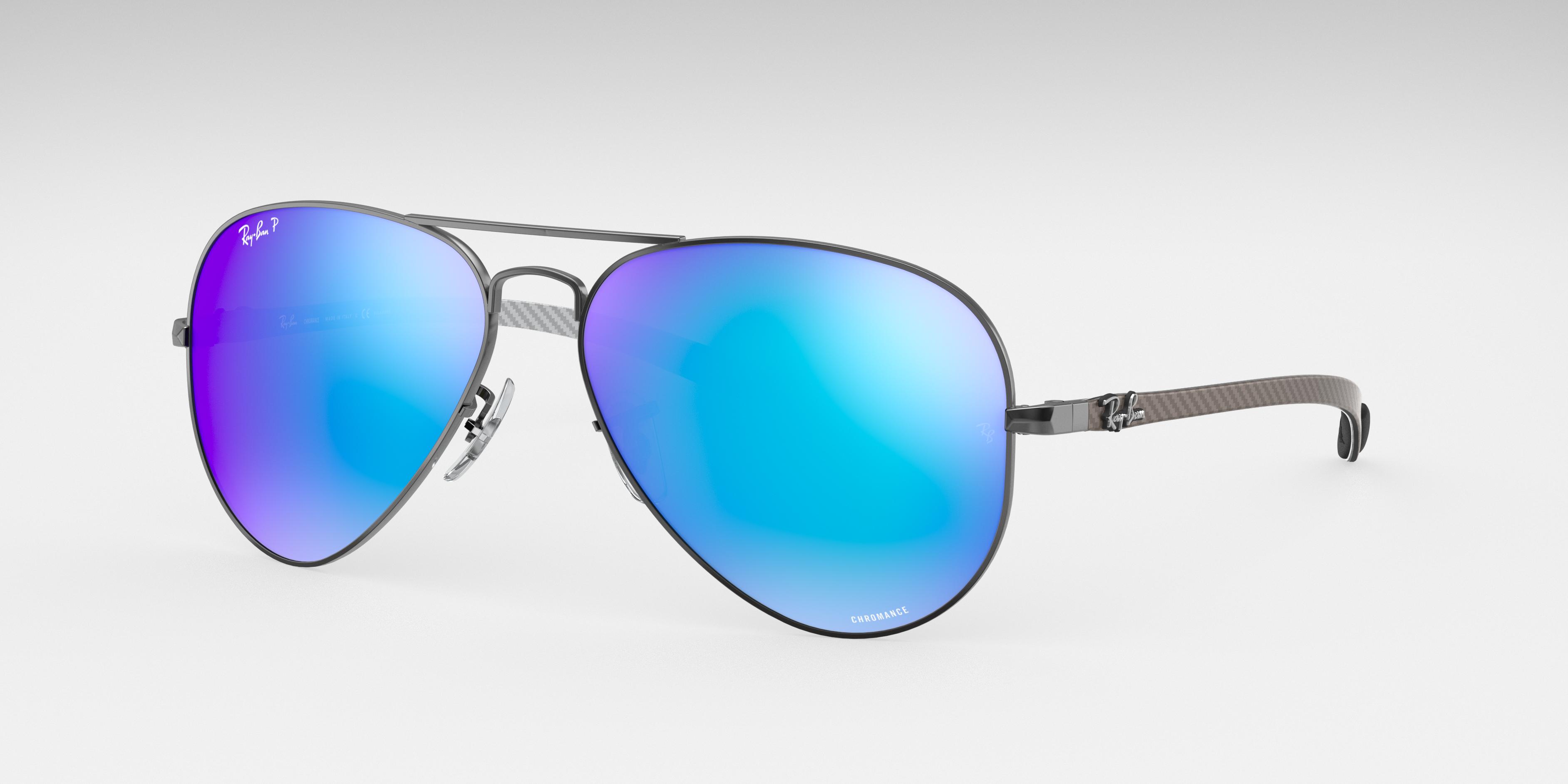 Ray-Ban Rb8317 Chromance Gunmetal, Polarized Blue Lenses - RB8317CH