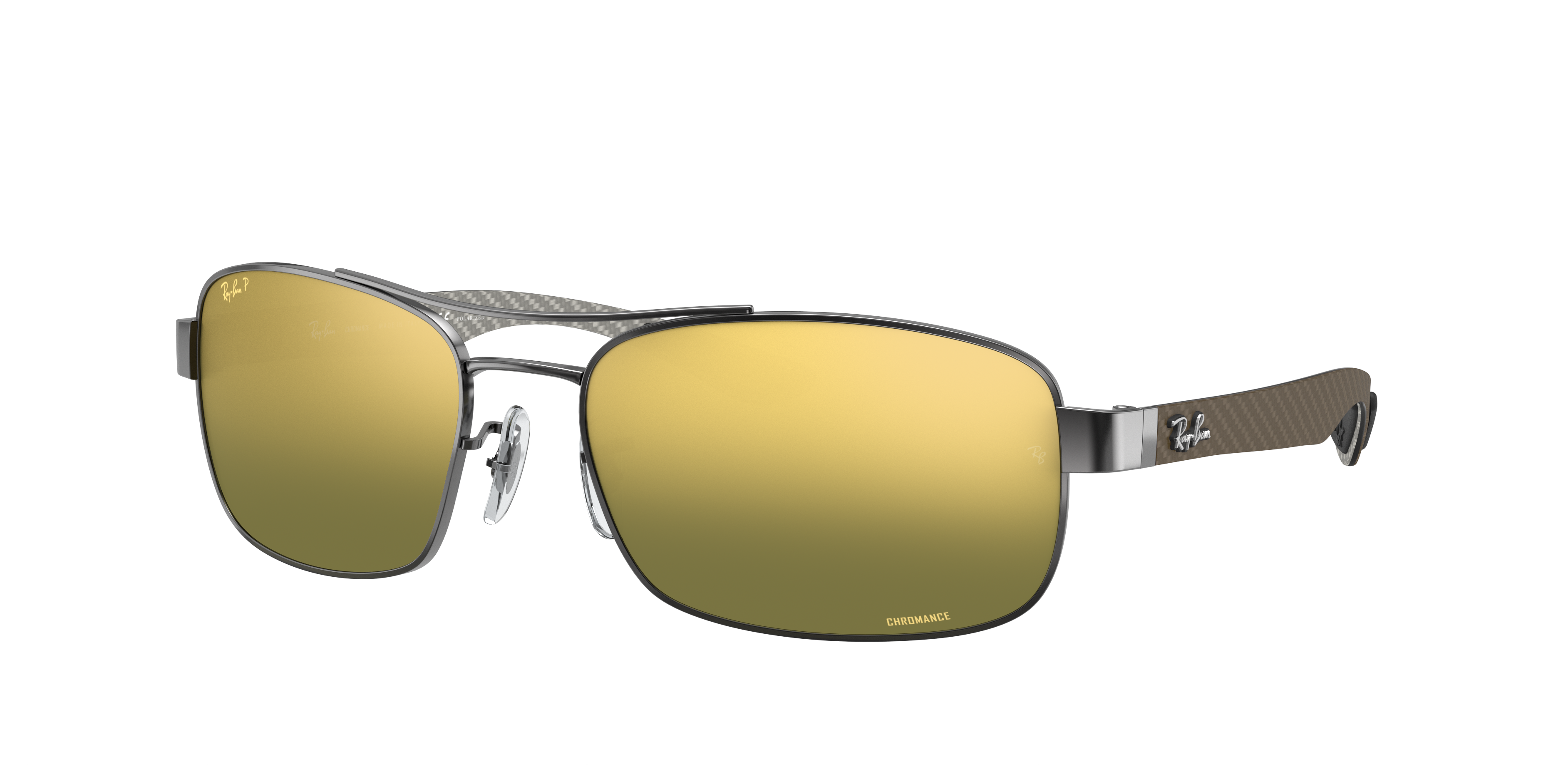 Ray-Ban Rb8318 Chromance Gunmetal, Polarized Green Lenses - RB8318CH