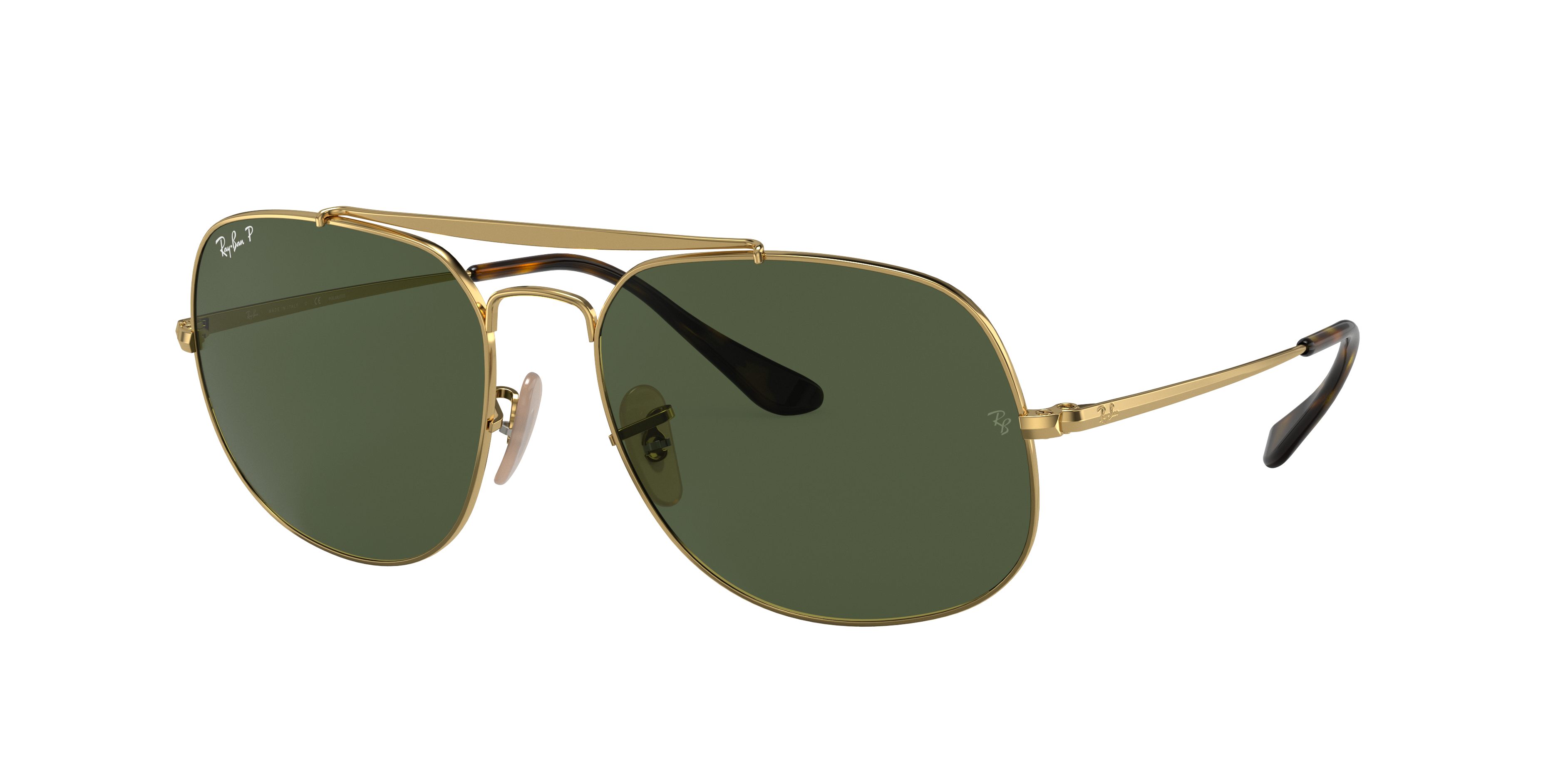 Ray-Ban General Gold, Green Lenses - RB3561