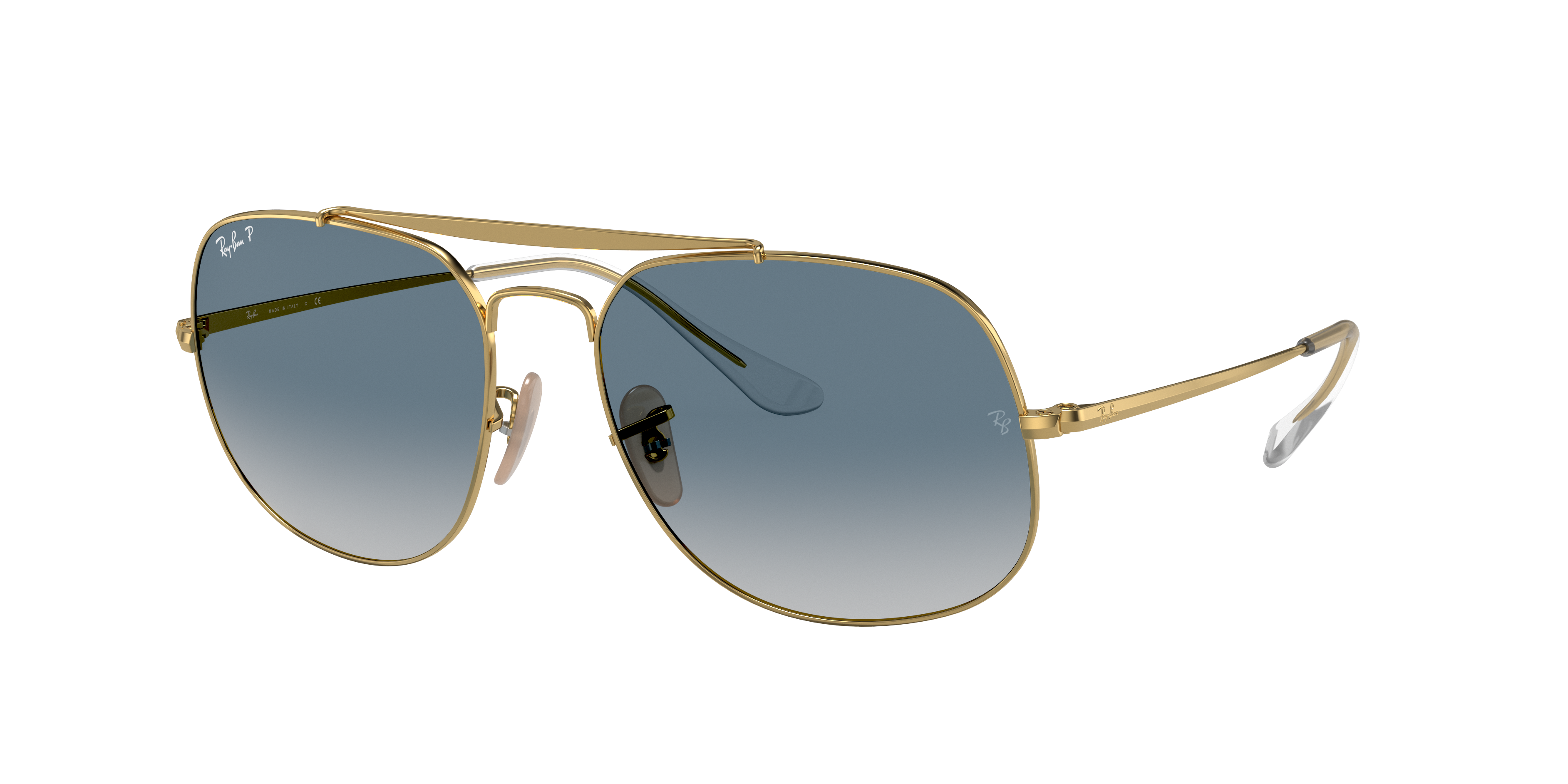 Ray-Ban General Gold, Blue Lenses - RB3561