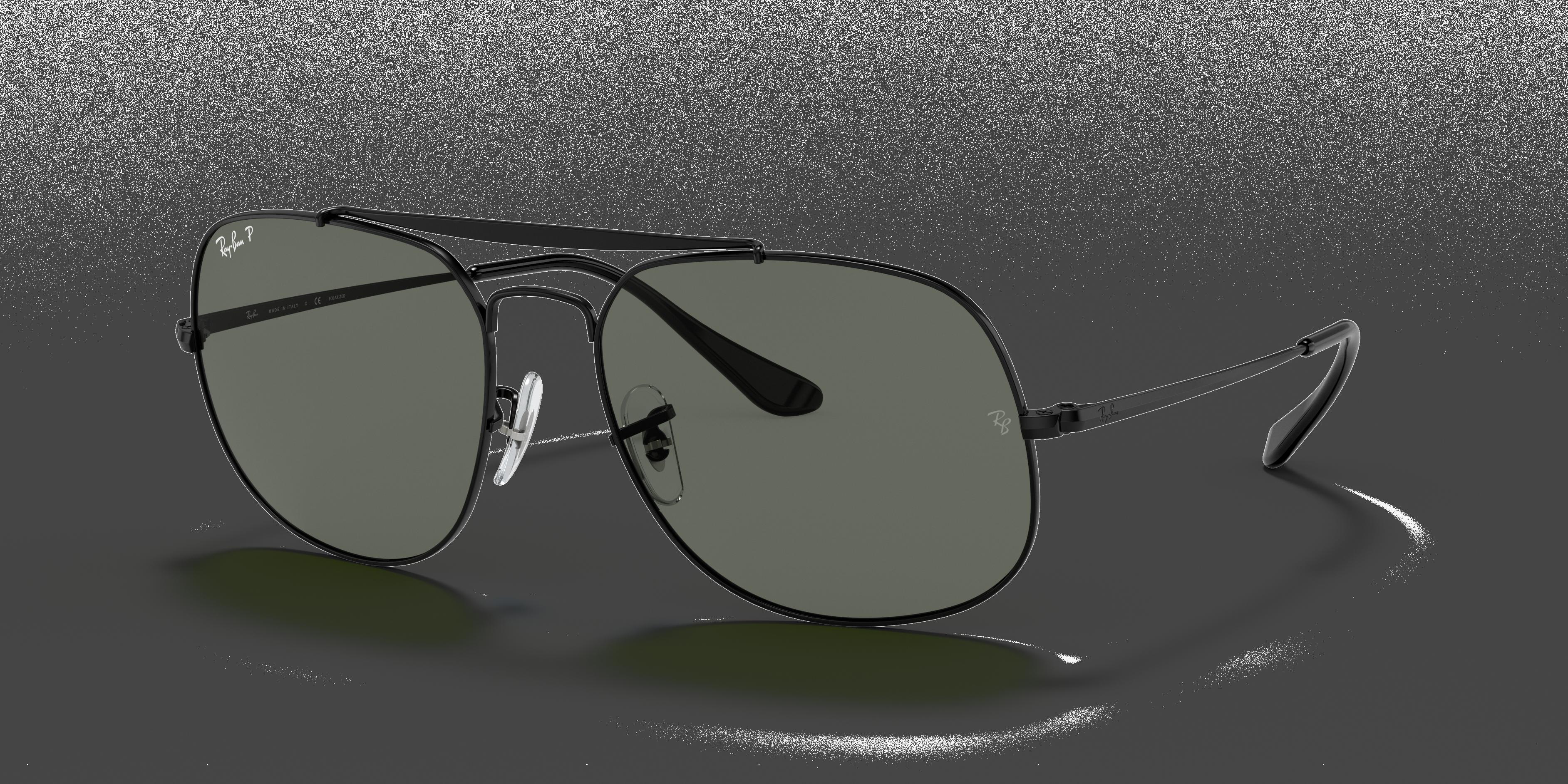 Ray-Ban General Black, Polarized Green Lenses - RB3561
