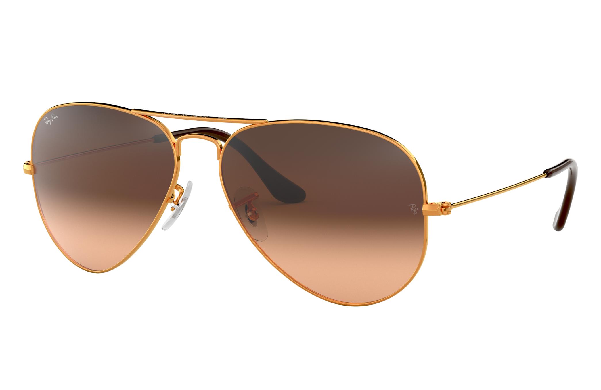 Ray-Ban Aviator Gradient Bronze-Copper, Pink Lenses - RB3025