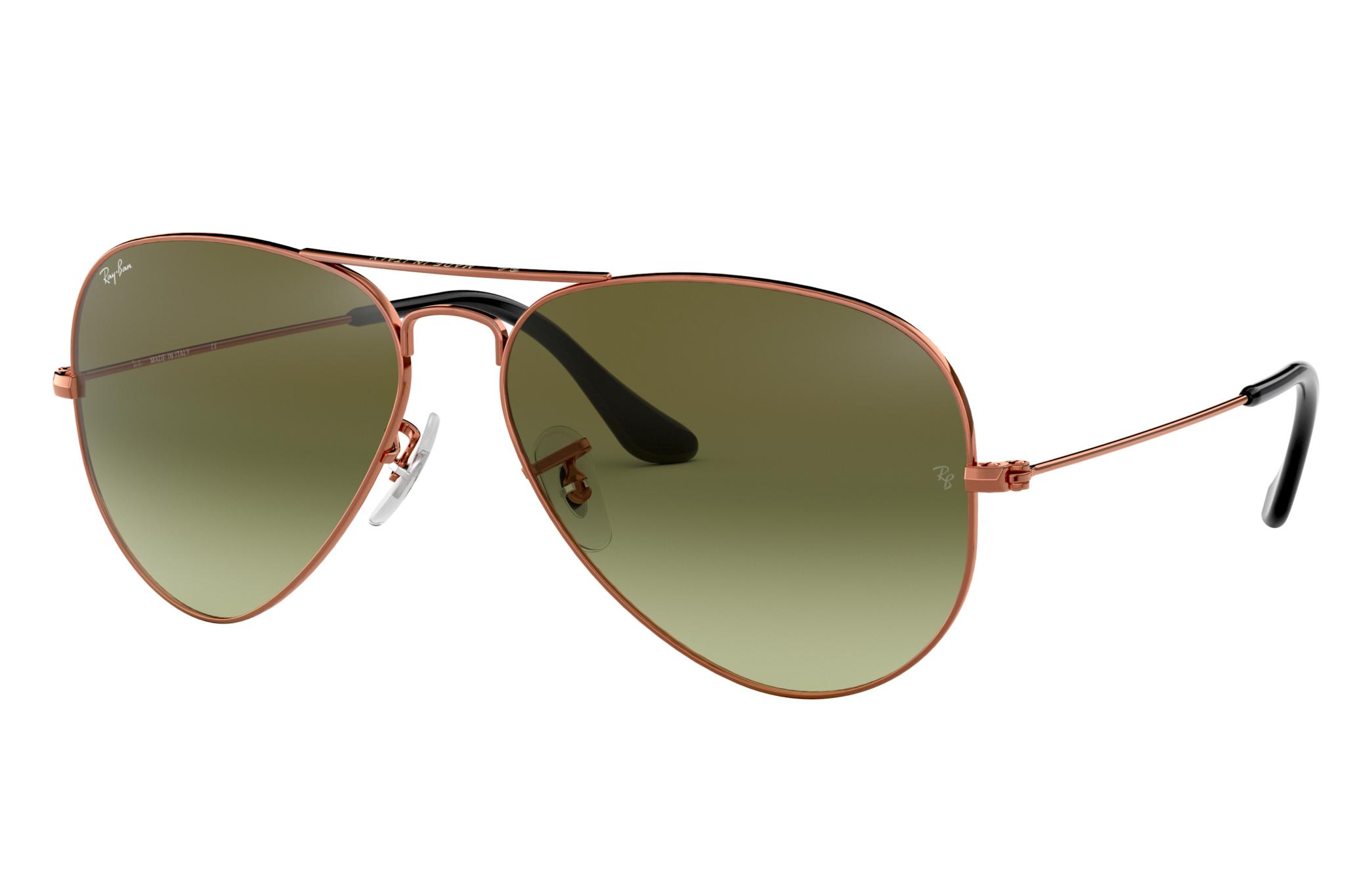 Ray-Ban Aviator Gradient Bronze-Copper, Green Lenses - RB3025