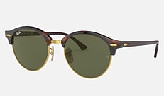 Ray-Ban RB4246F 990 53-19 CLUBROUND(JPフィット) トータス Clubmaster