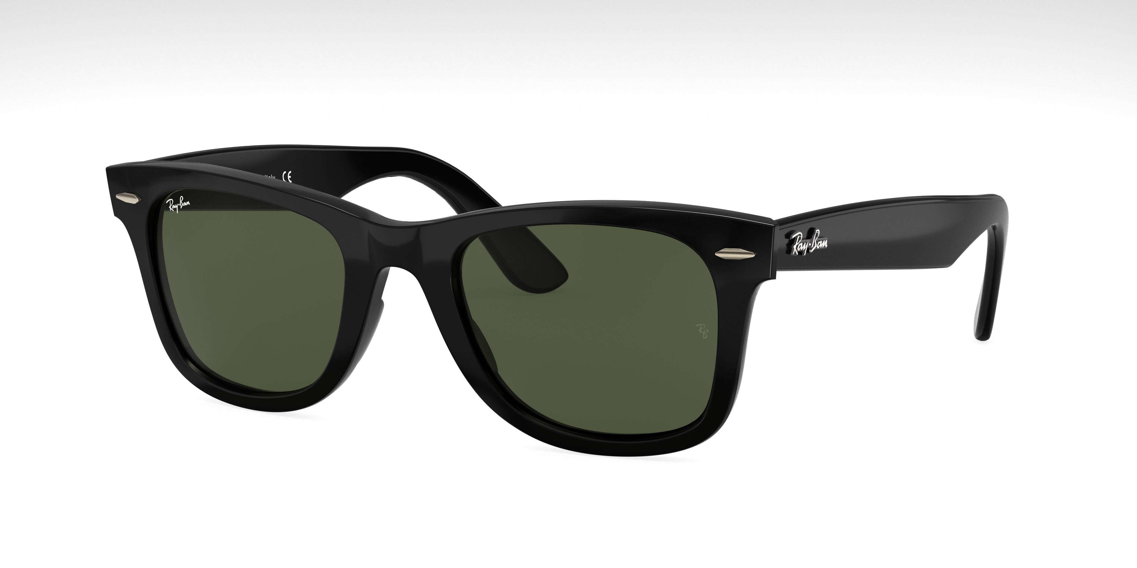 Ray-Ban Wayfarer Ease Black, Green Lenses - RB4340