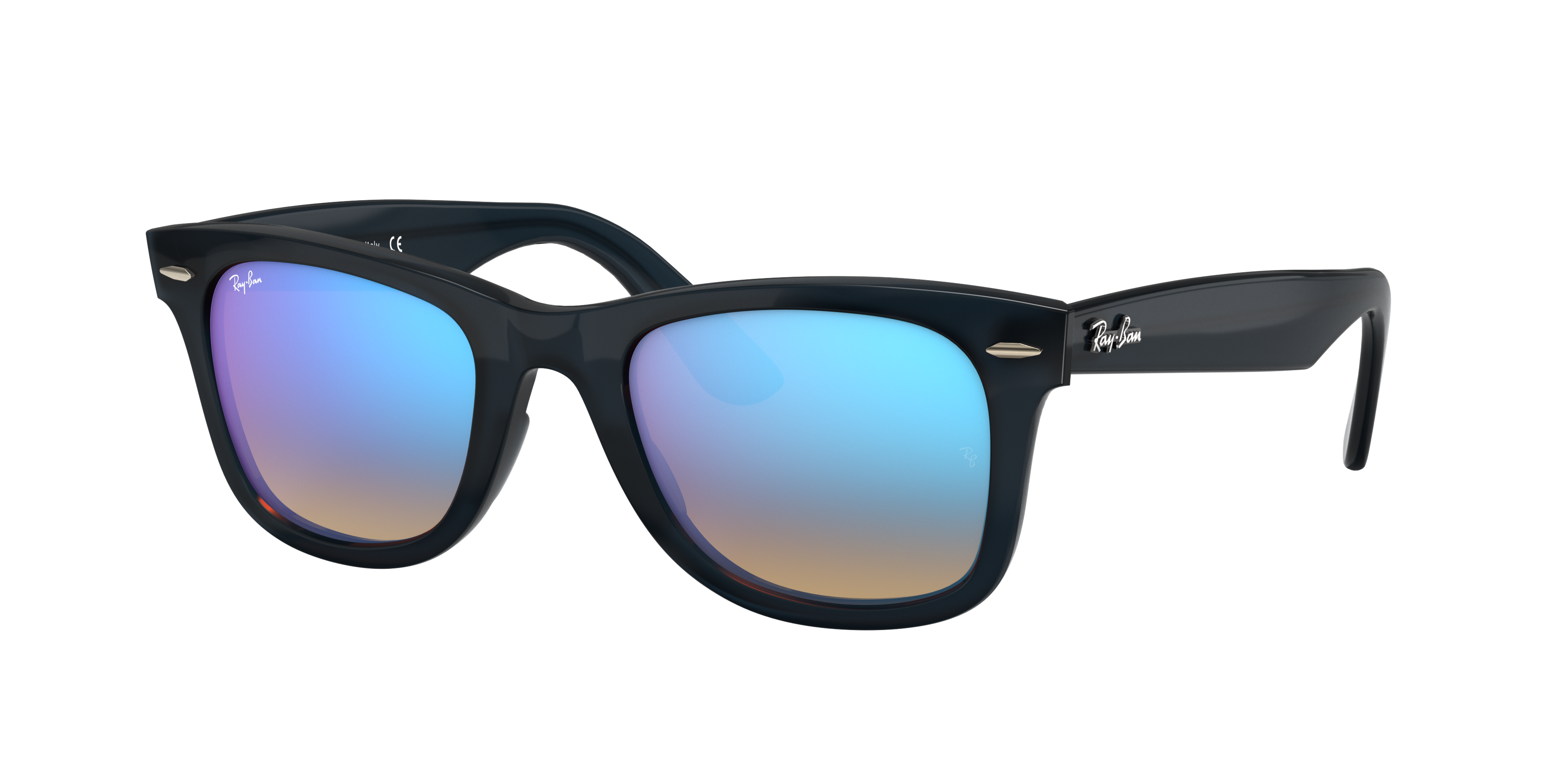 Ray-Ban Wayfarer Ease Blue, Blue Lenses - RB4340