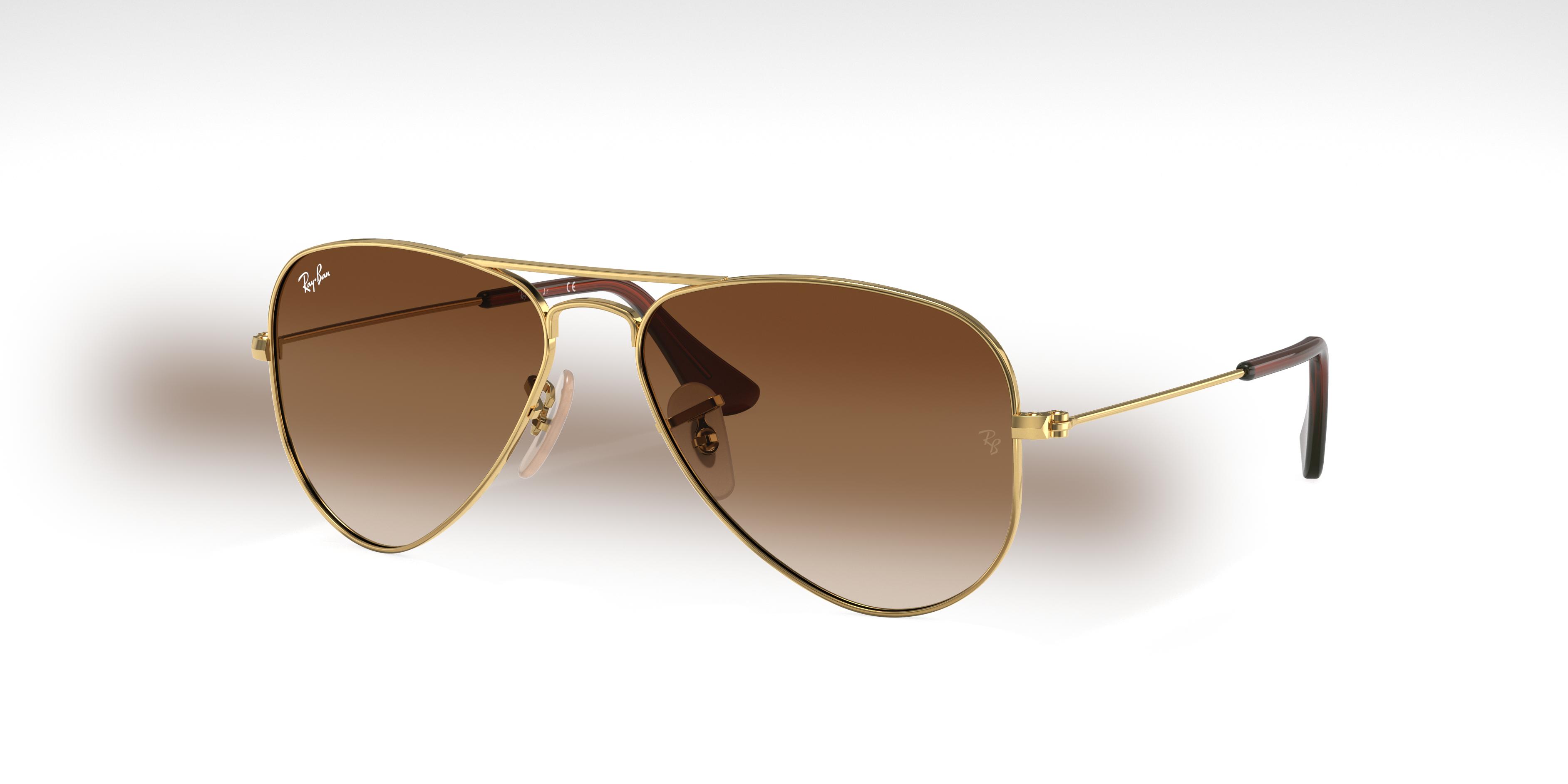 Ray-Ban Aviator Junior Gold, Brown Lenses - RJ9506S