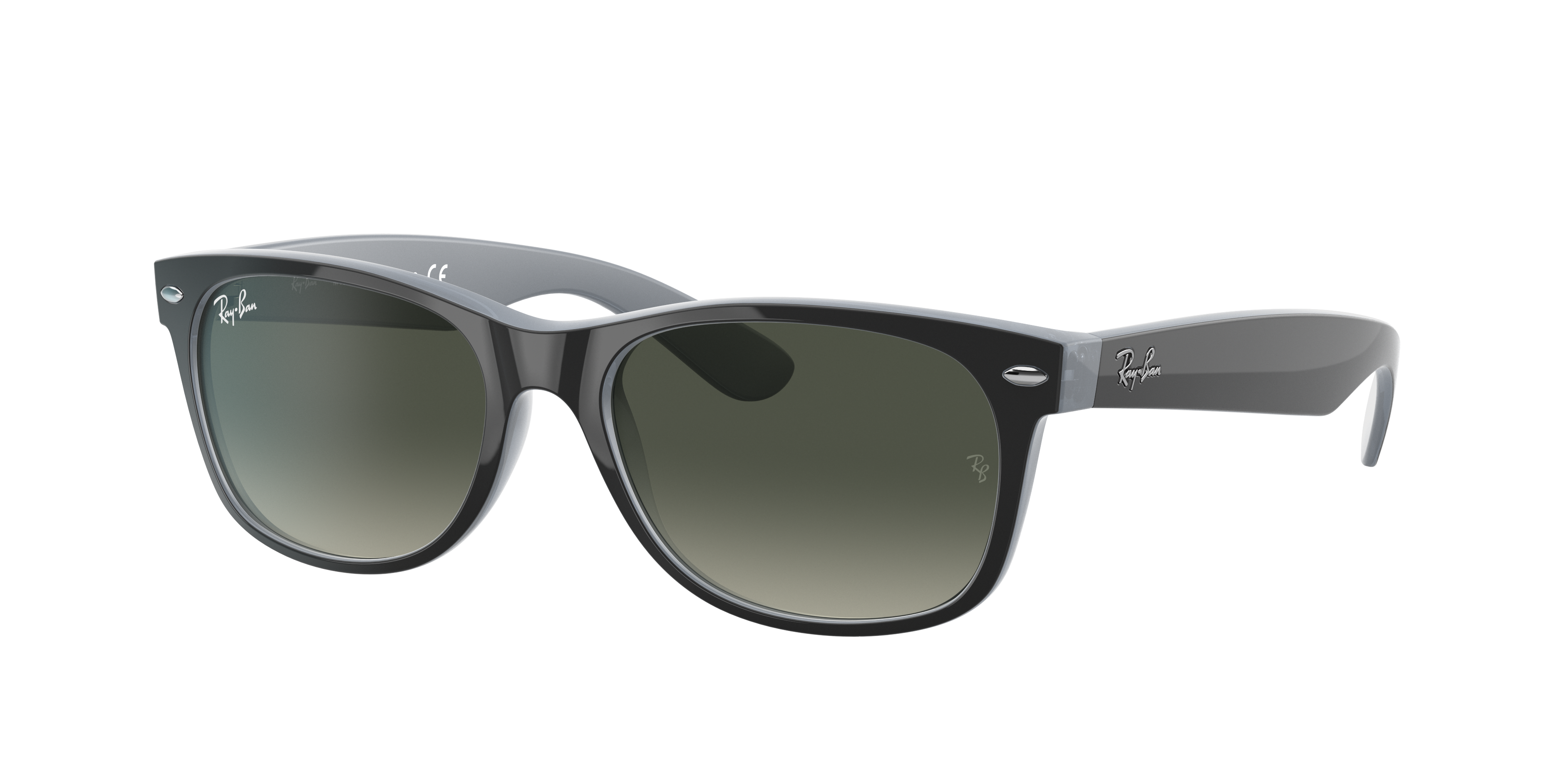 Ray-Ban New Wayfarer Color Mix Black, Gray Lenses - RB2132