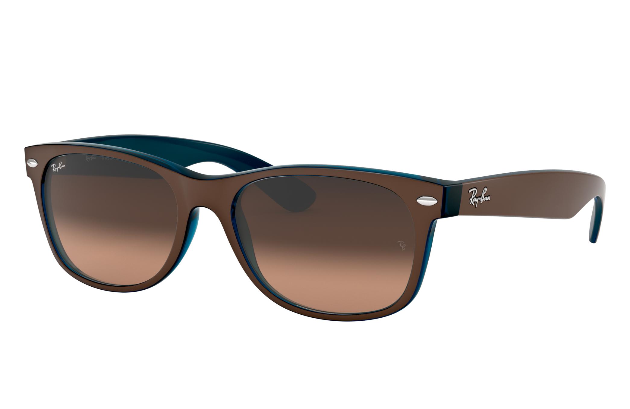 Ray-Ban New Wayfarer Color Mix Brown, Pink Lenses - RB2132