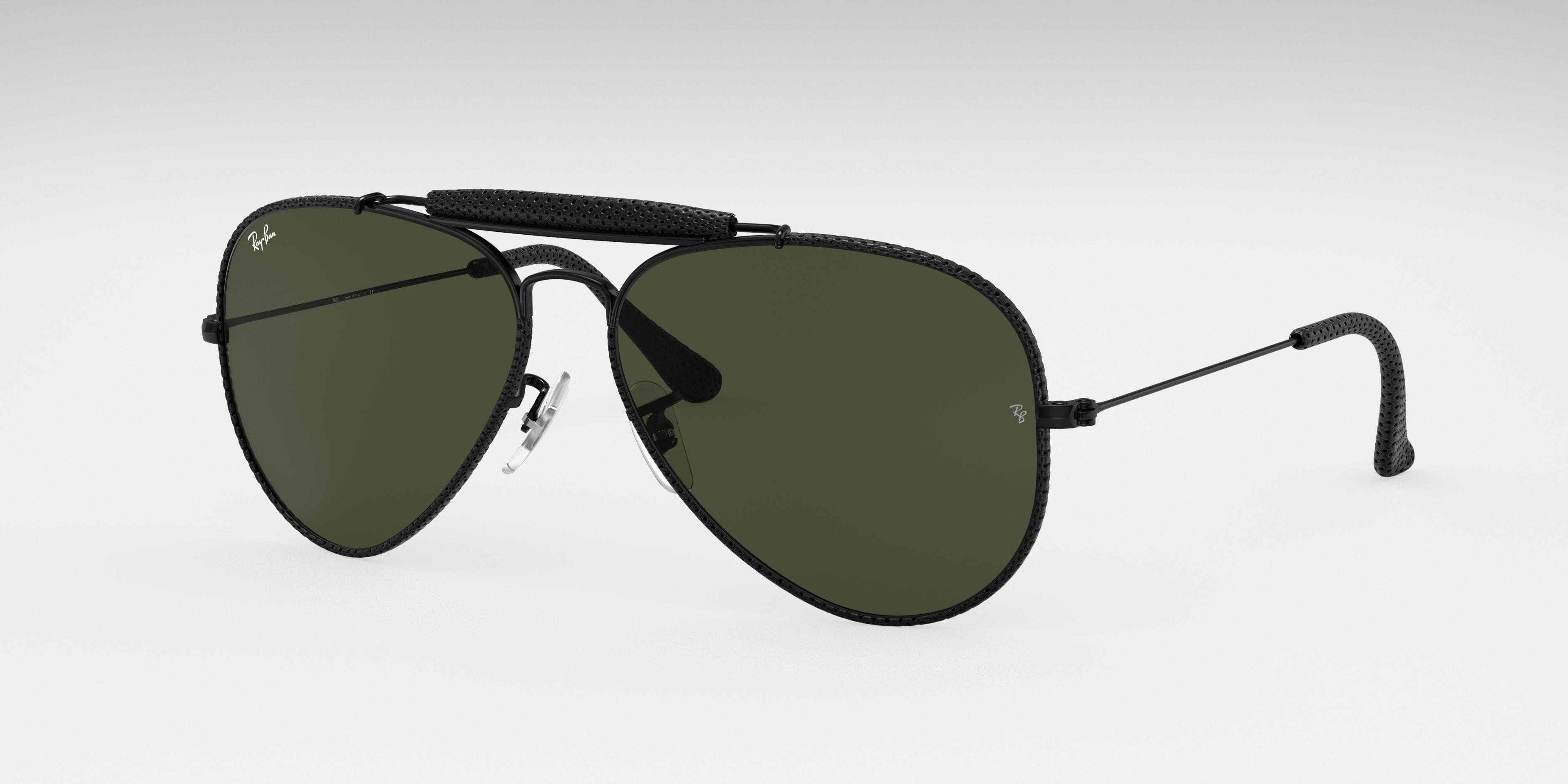 Ray-Ban Outdoorsman Craft Black, Green Lenses - RB3422Q