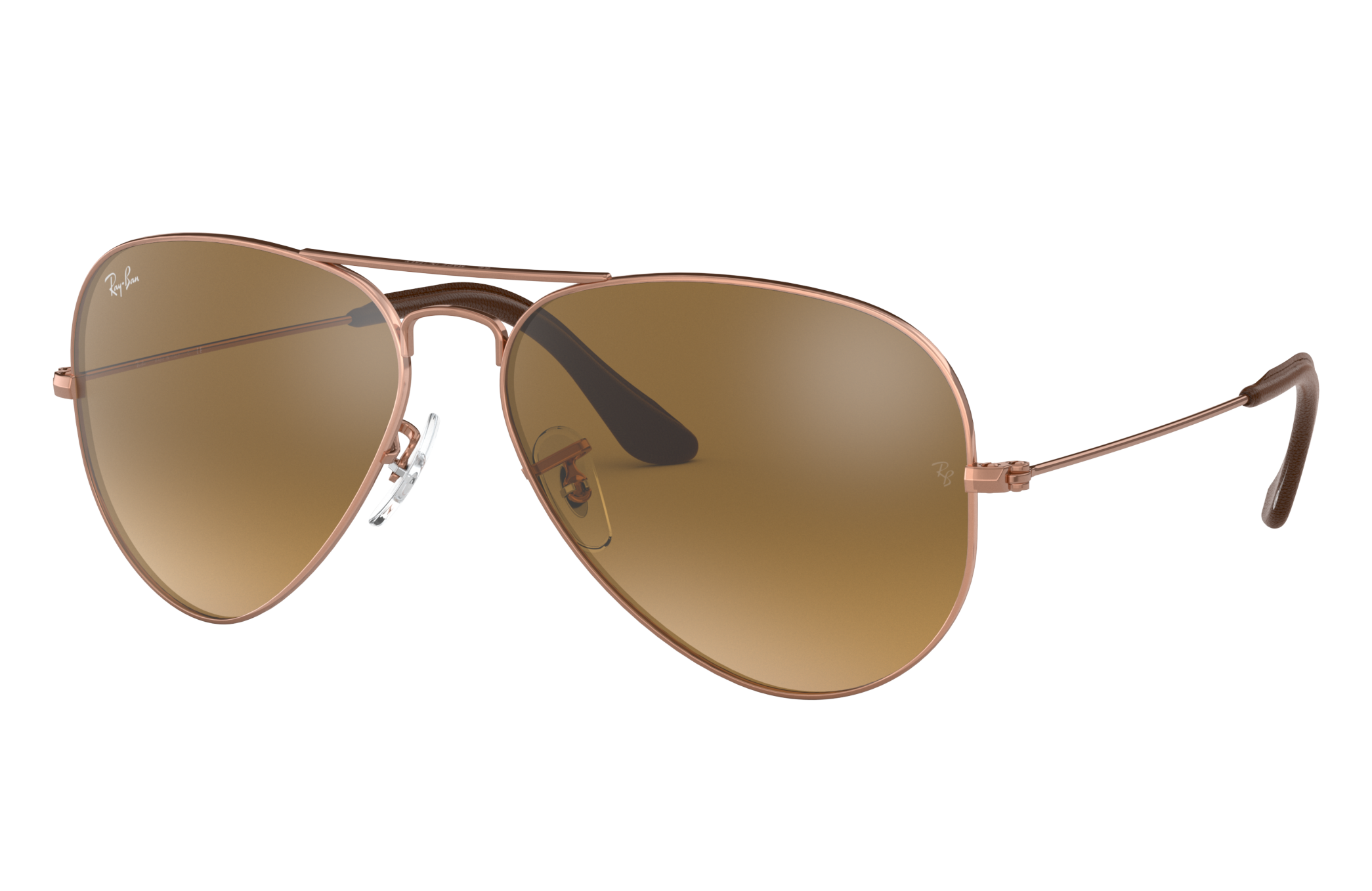 Ray-Ban Aviator @collection Bronze-Copper, Brown Lenses - RB3025
