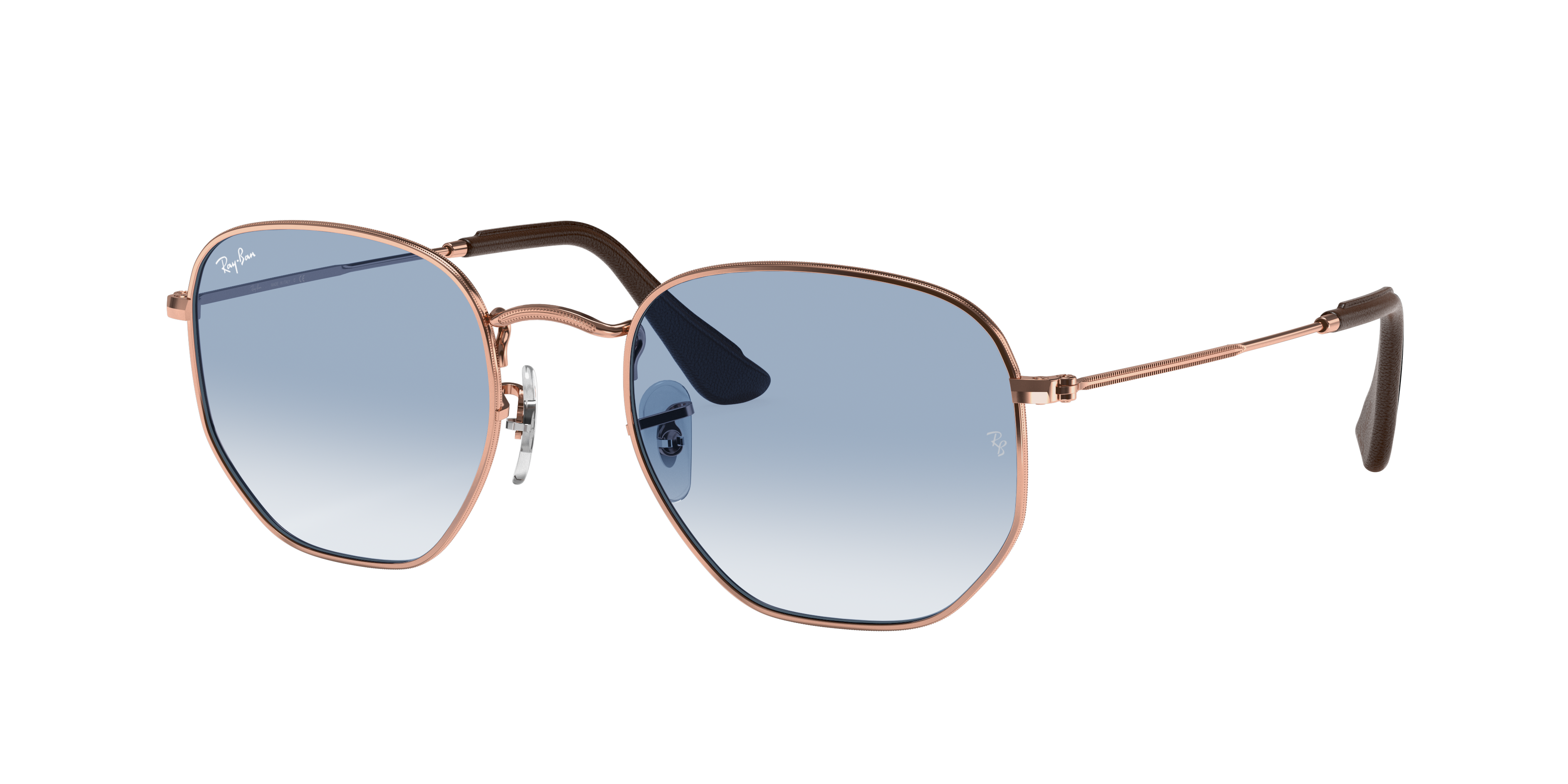 Ray-Ban Hexagonal @collection Bronze-Copper, Blue Lenses - RB3548N
