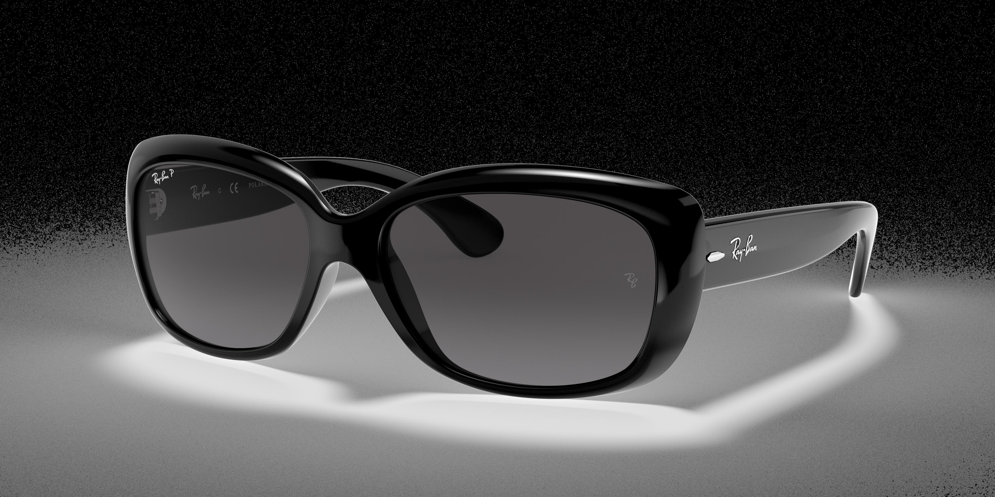 Ray-Ban Jackie Ohh Low Bridge Fit Black, Polarized Gray Lenses - RB4101F