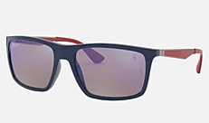 Ray-Ban RB4228M F606H0 58-18 RB4228M SCUDERIA FERRARI COLLECTION ブルー Active