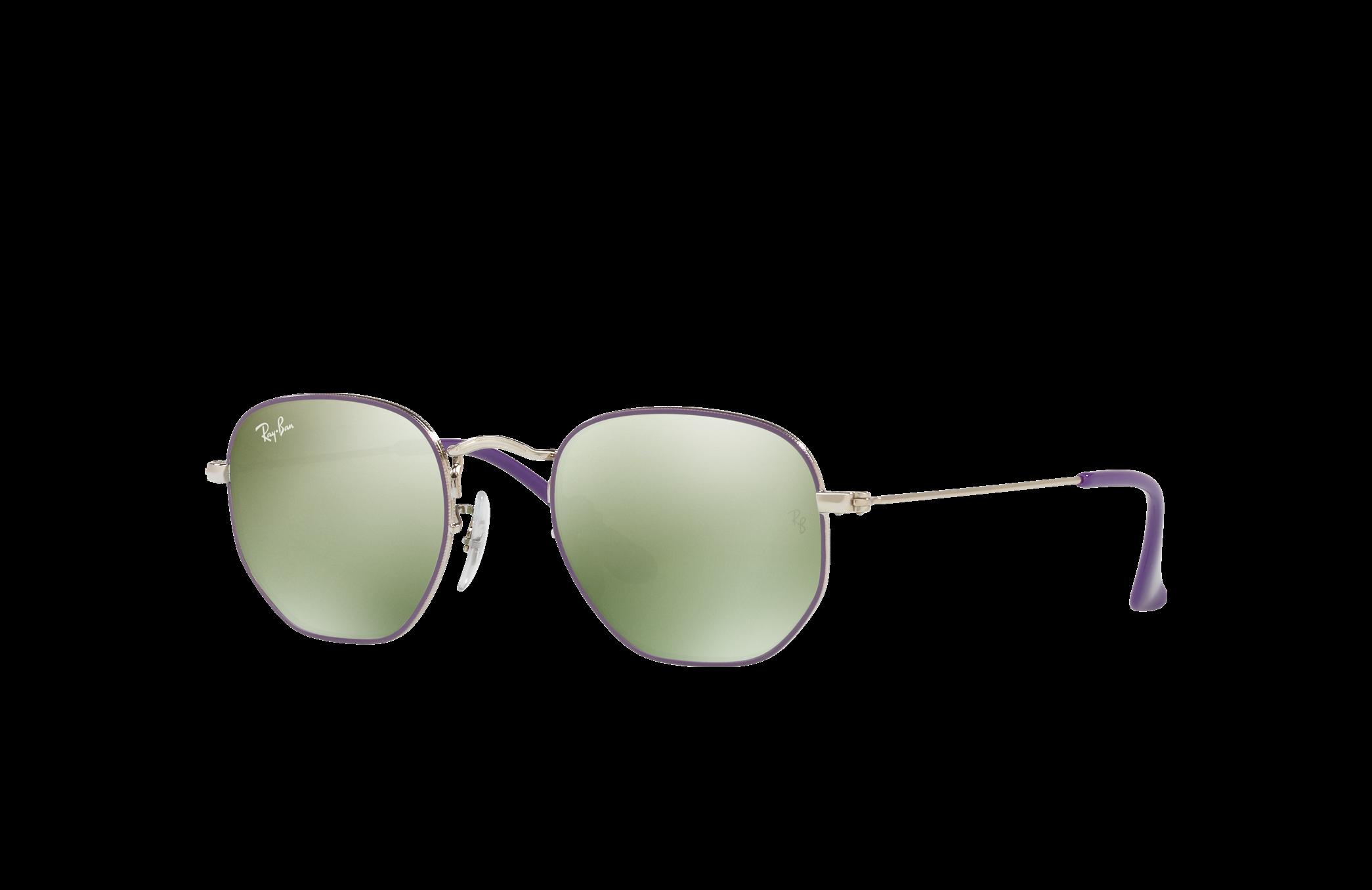 Ray-Ban Hexagonal Junior Silver, Green Lenses - RJ9541SN