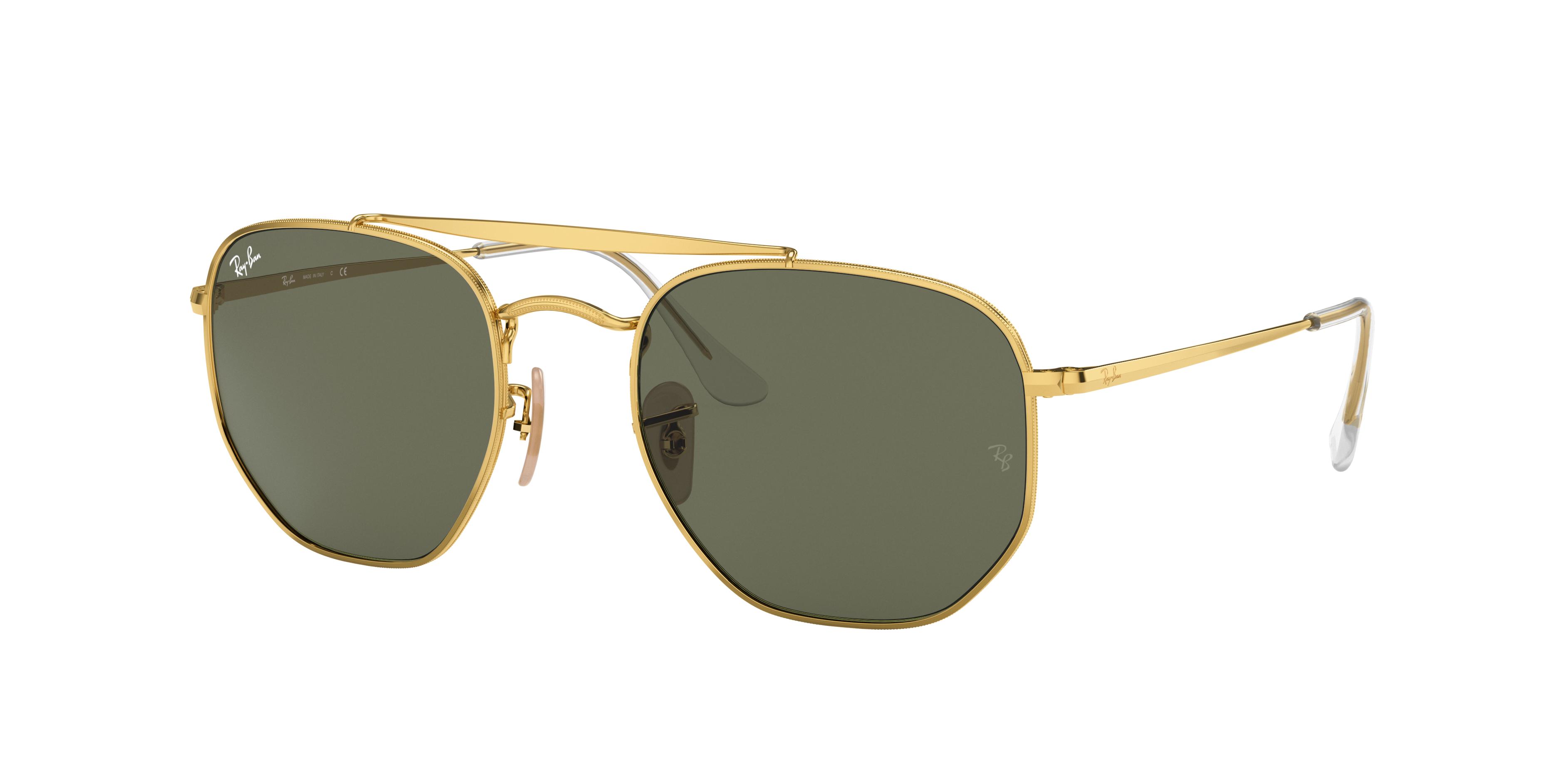 Ray-Ban Marshal Gold, Green Lenses - RB3648