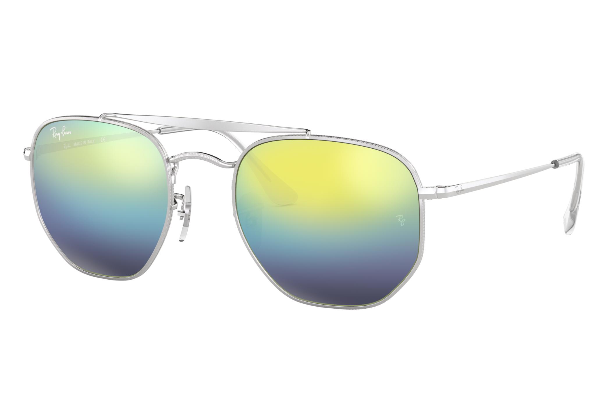 Ray-Ban Marshal Silver, Blue Lenses - RB3648