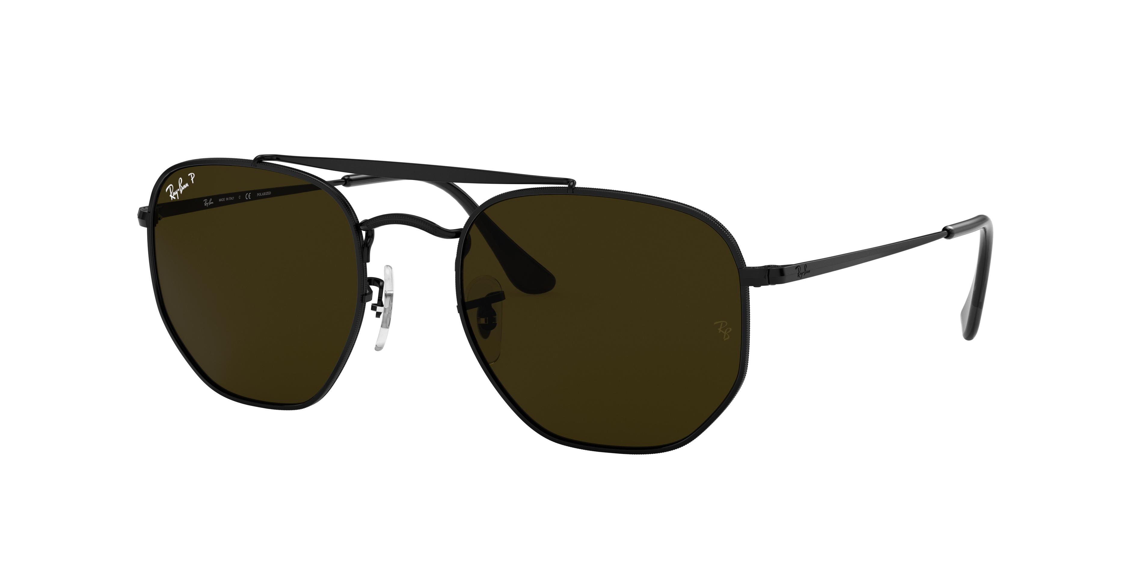 Ray-Ban Marshal Black, Polarized Green Lenses - RB3648