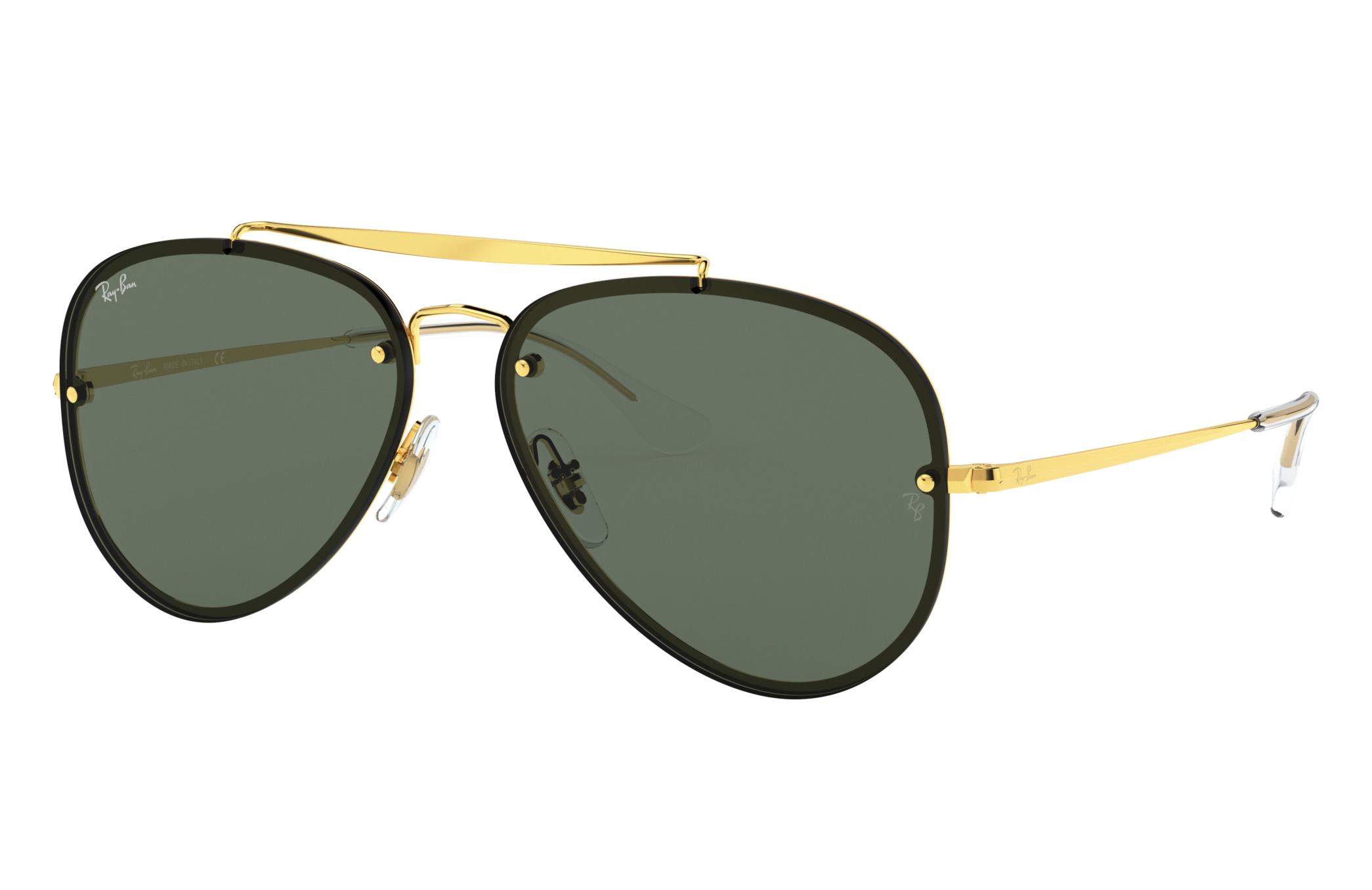 Ray-Ban Blaze Aviator Gold, Green Lenses - RB3584N