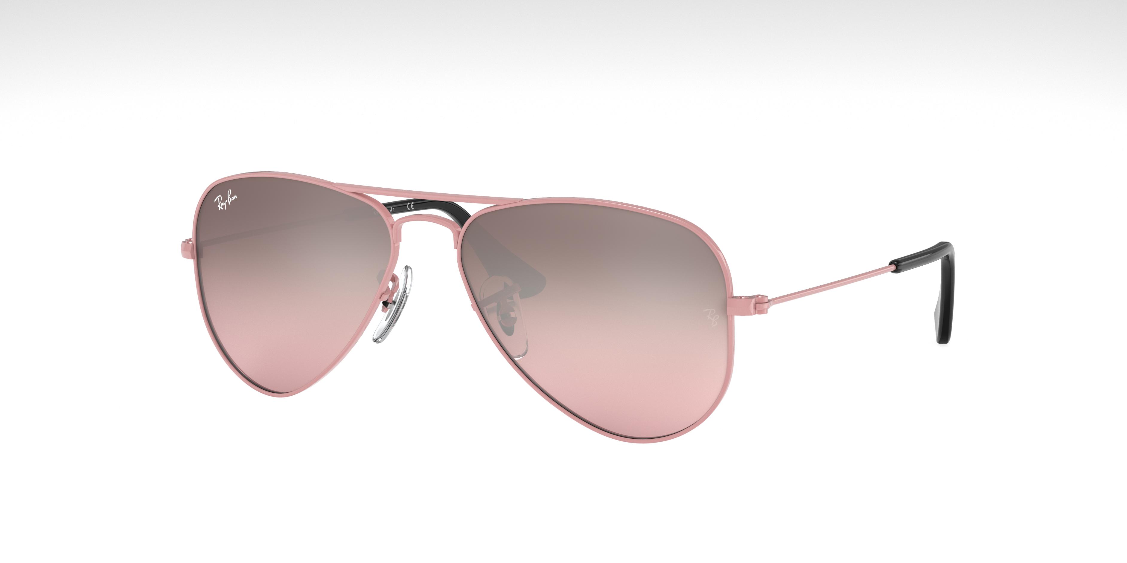 Ray-Ban Aviator Junior Pink, Pink Lenses - RJ9506S
