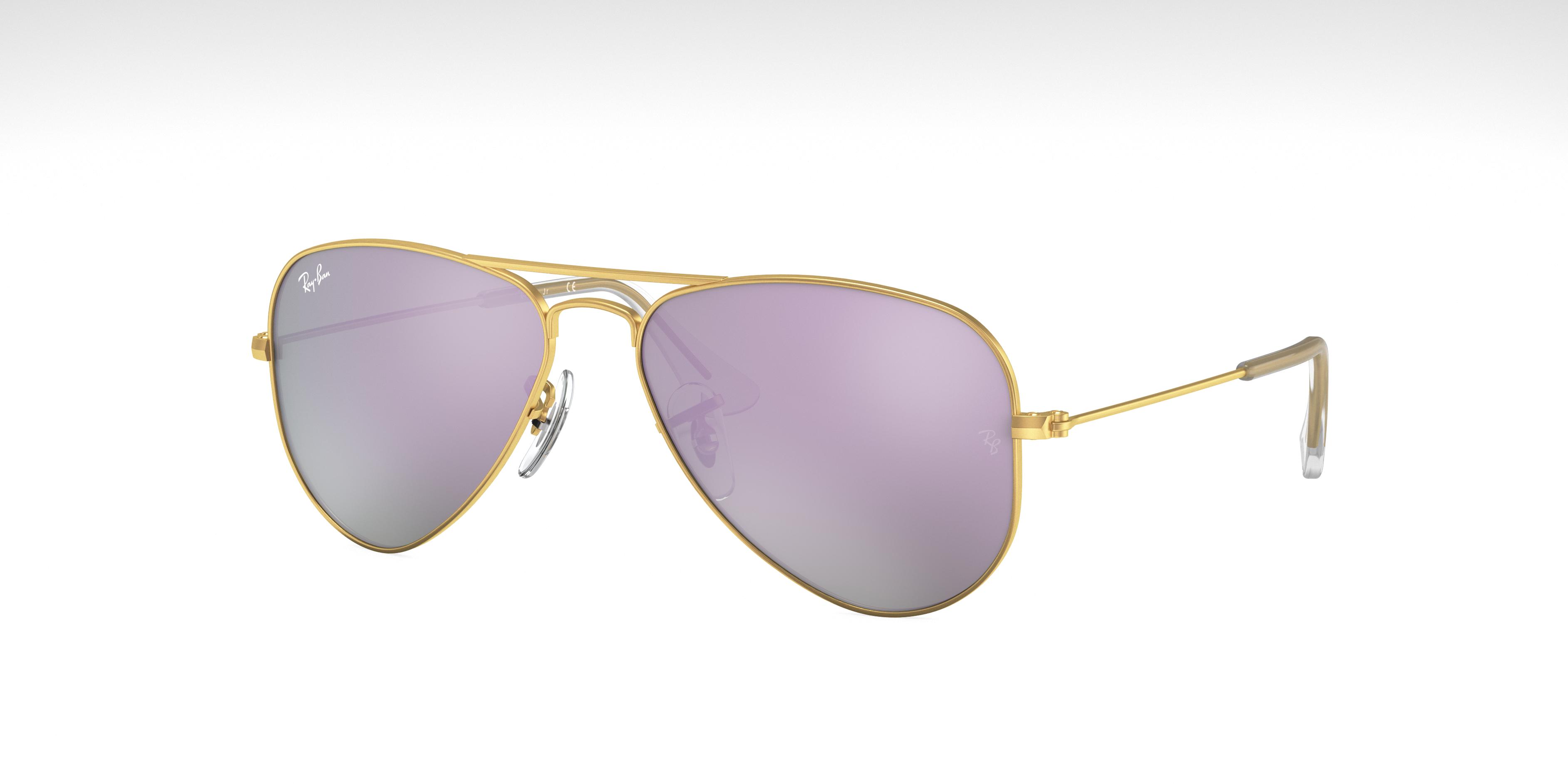 Ray-Ban Aviator Junior Gold, Violet Lenses - RJ9506S