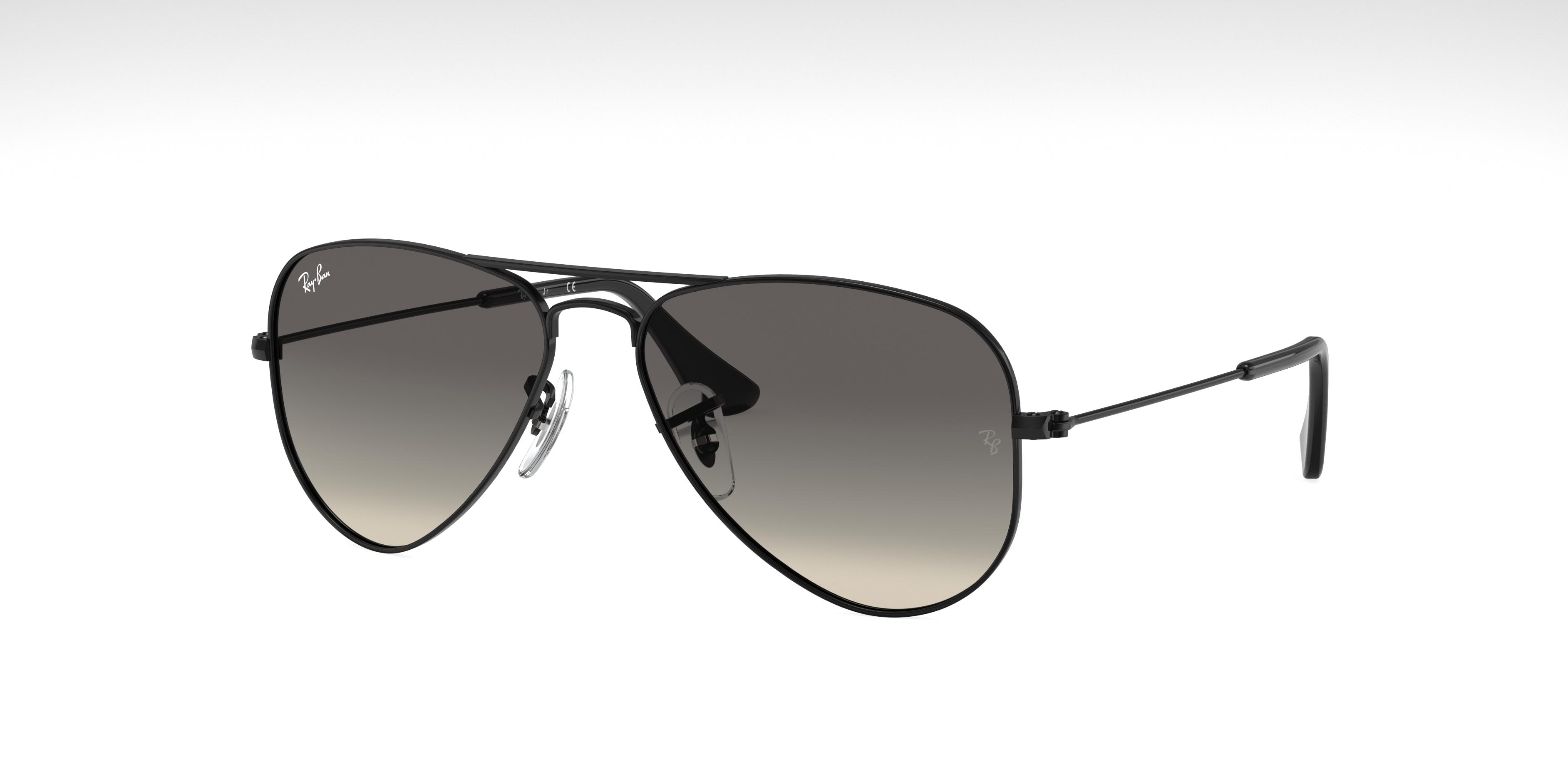 Ray-Ban Aviator Junior Black, Gray Lenses - RJ9506S