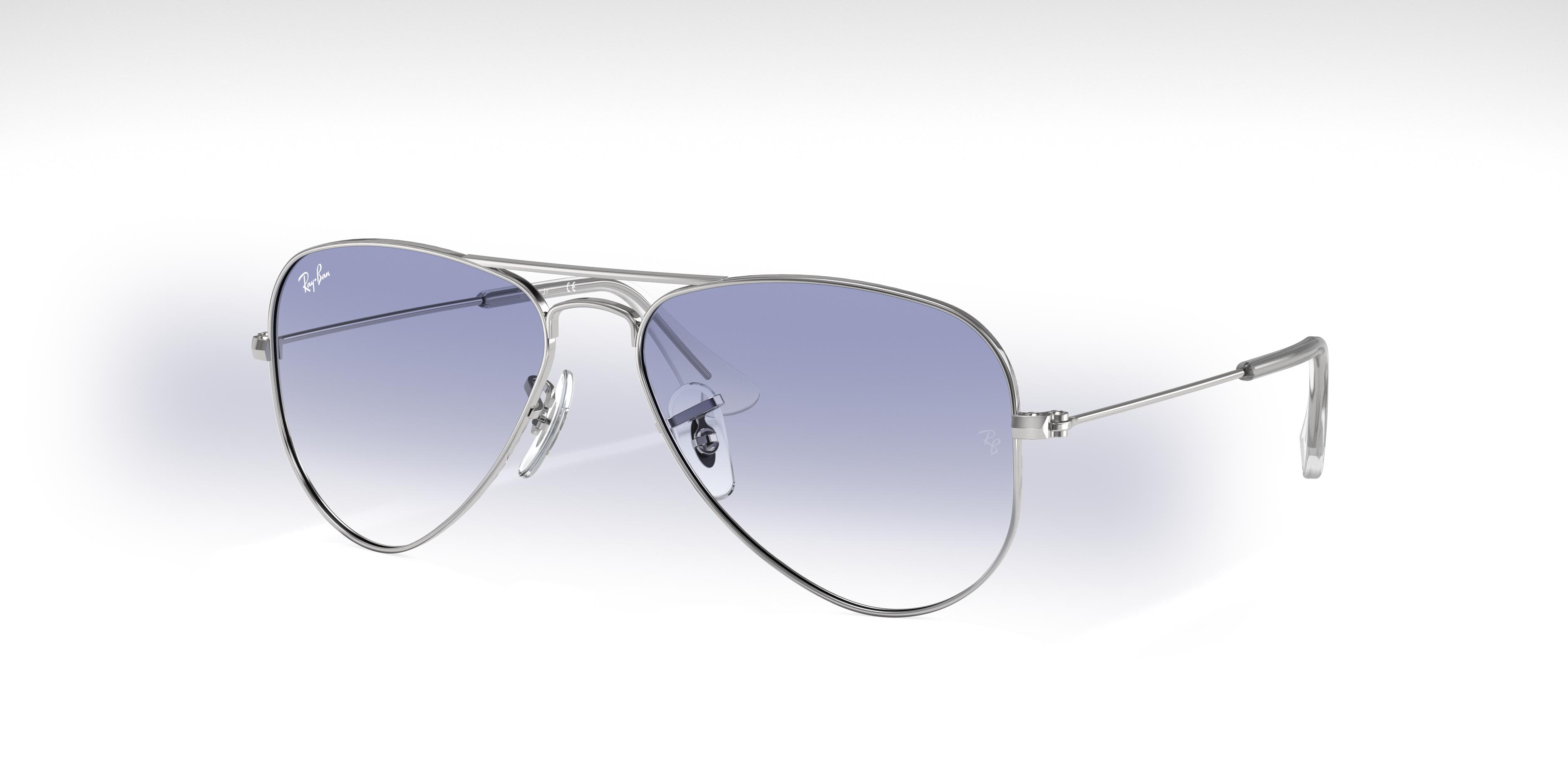 Ray-Ban Aviator Junior Silver, Blue Lenses - RJ9506S