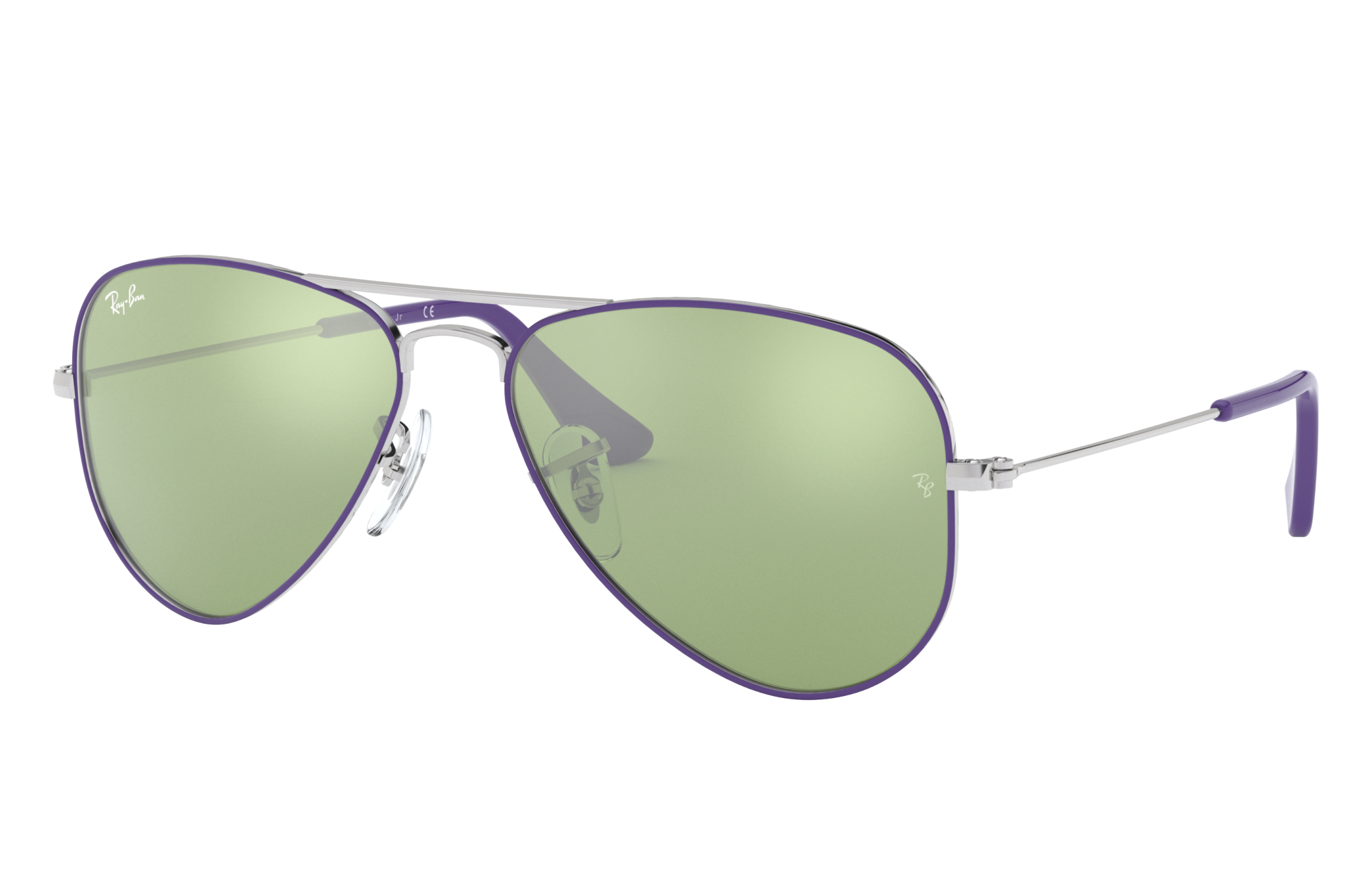 Ray-Ban Aviator Junior Silver, Green Lenses - RJ9506S