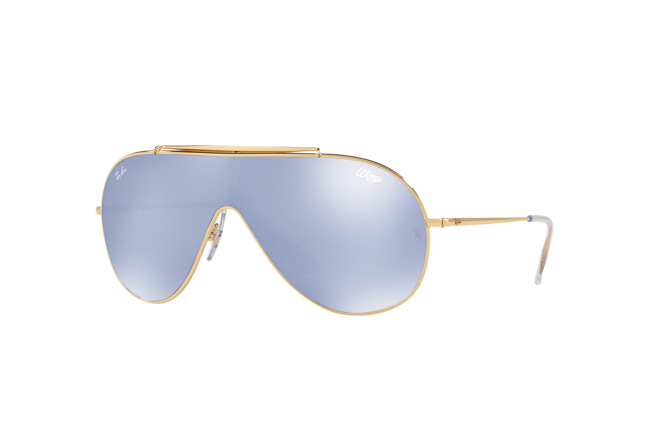 Ray-Ban Wings Gold, Violet Lenses - RB3597