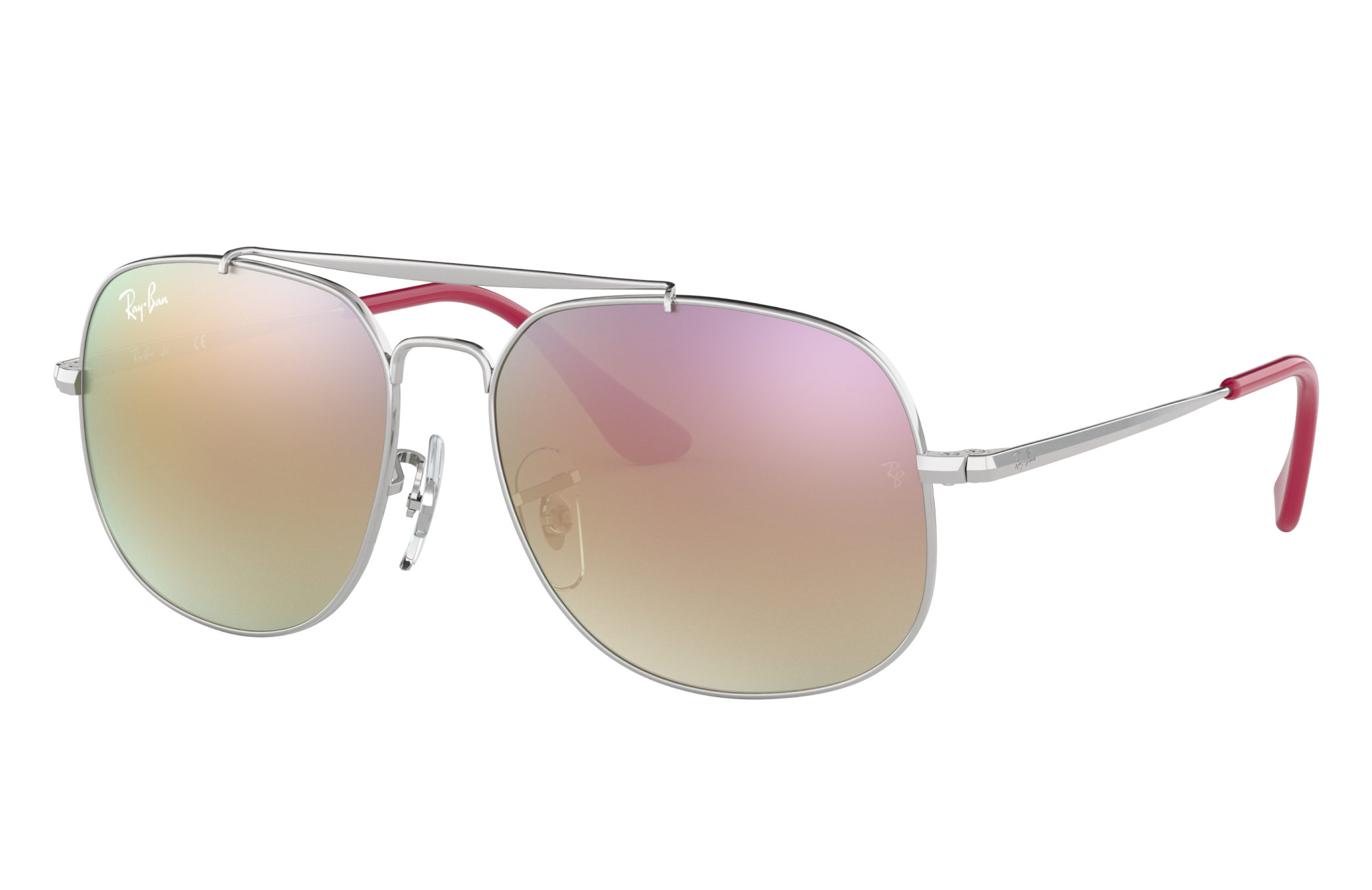 Ray-Ban General Junior Silver, Pink Lenses - RJ9561S