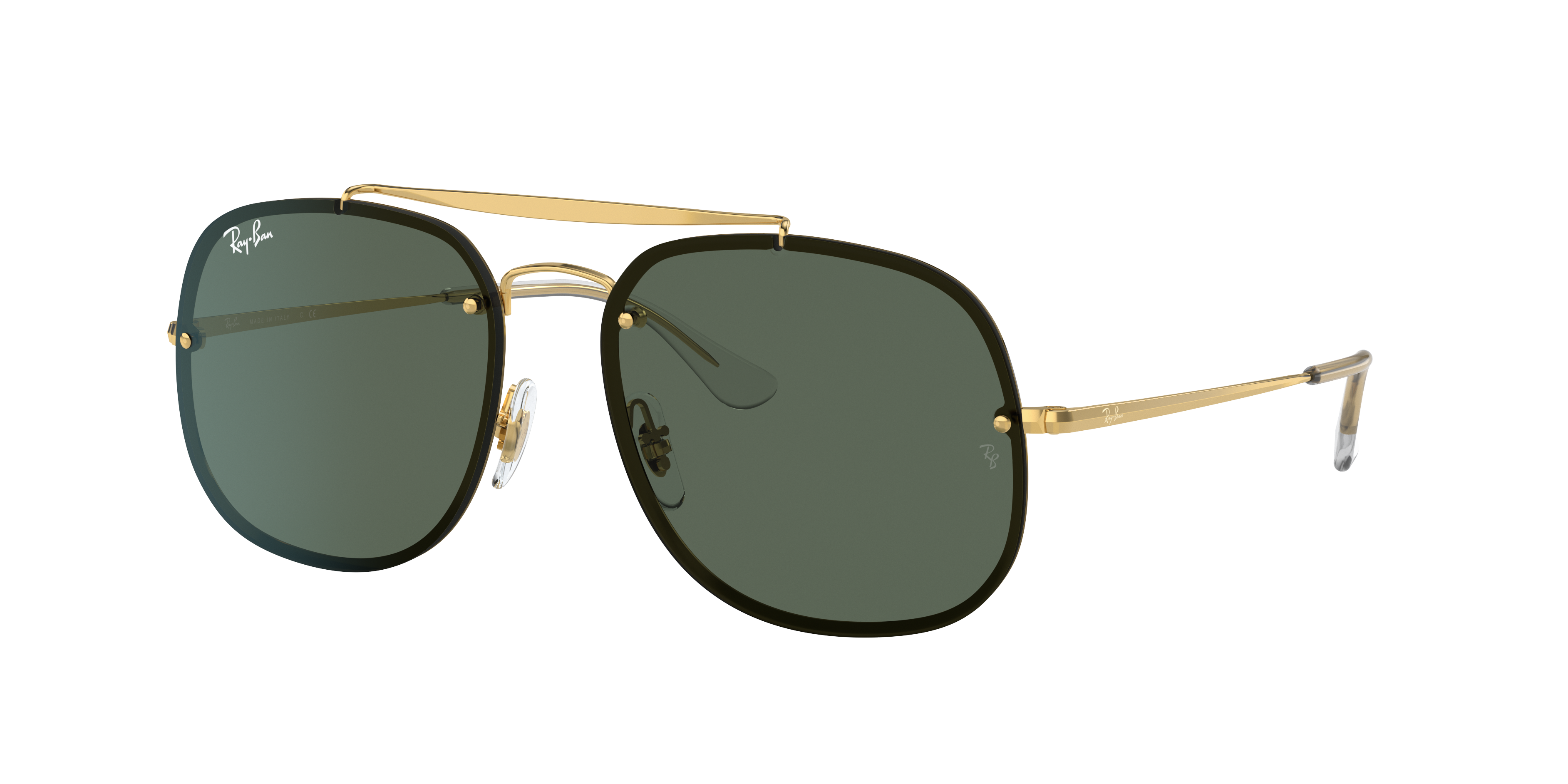 Ray-Ban Blaze General Gold, Green Lenses - RB3583N