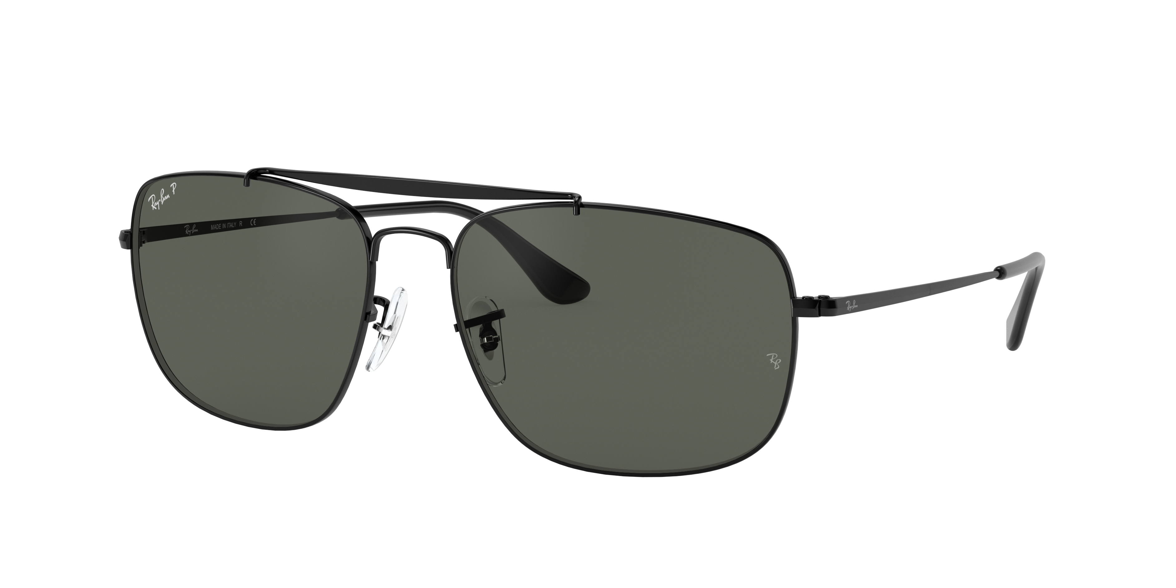 Ray-Ban Colonel Black, Polarized Green Lenses - RB3560