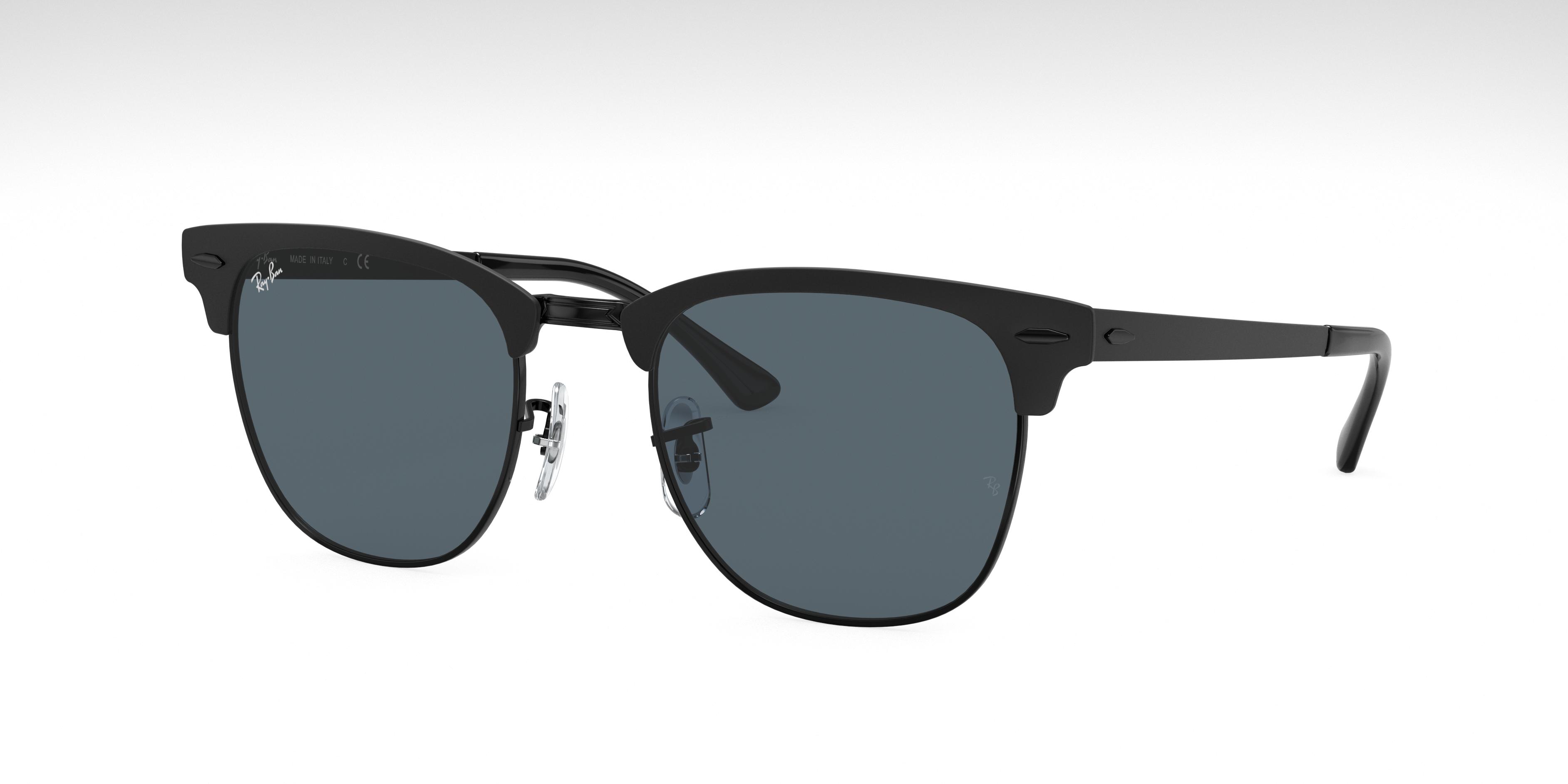 Ray-Ban Clubmaster Metal Black, Blue Lenses - RB3716