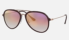 Ray-Ban RB4298 6335S5 57-17 RB4298 チョコレート 新作サングラス
