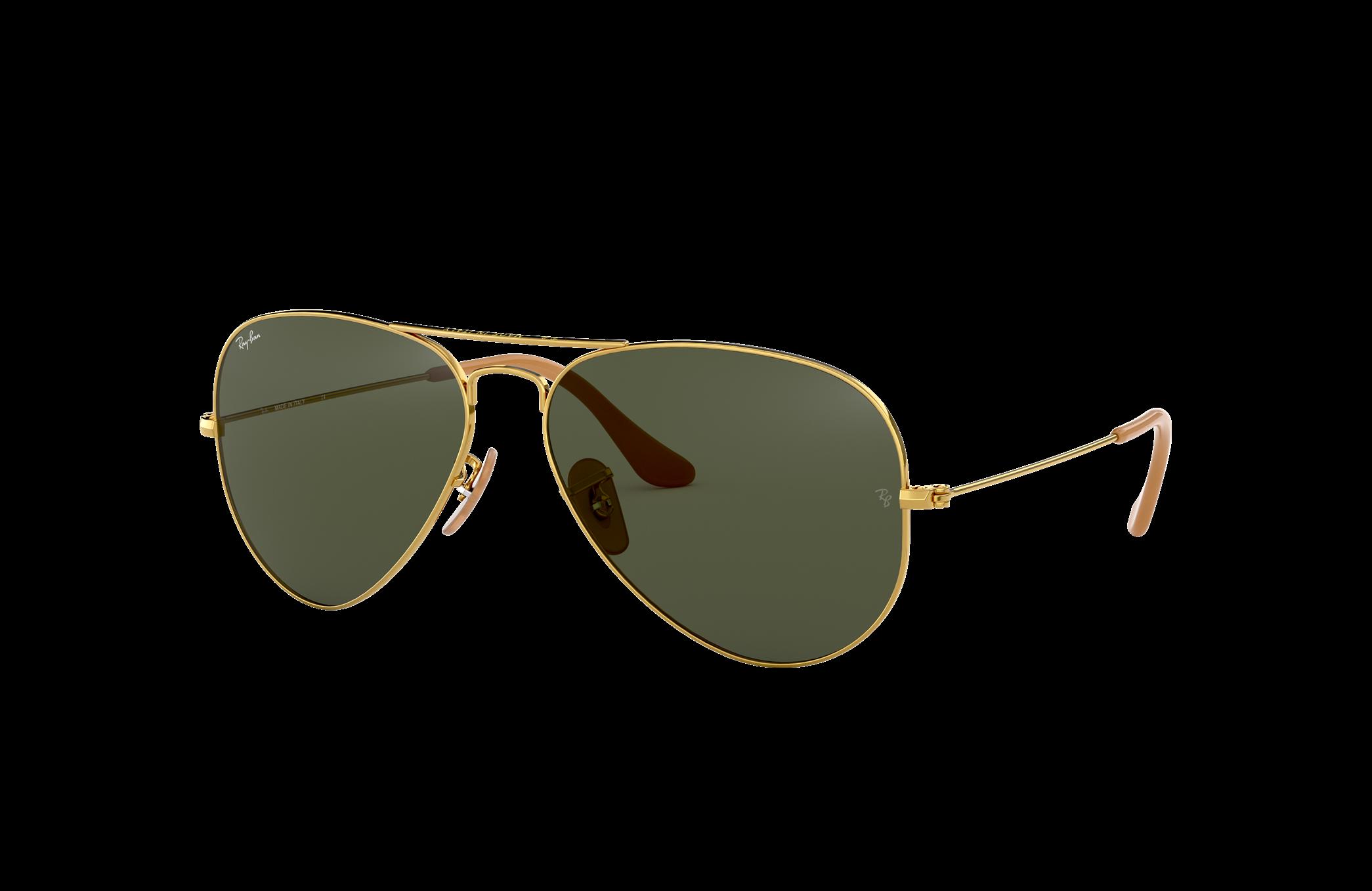 Ray-Ban Aviator 1937 Gold, Green Lenses - RB3025