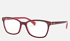 Ray-Ban RX5362F 5777 54-17 RX5362F (JPフィット) フューシャレッド/ピンク/フューシャトランスパレント 新作メガネ