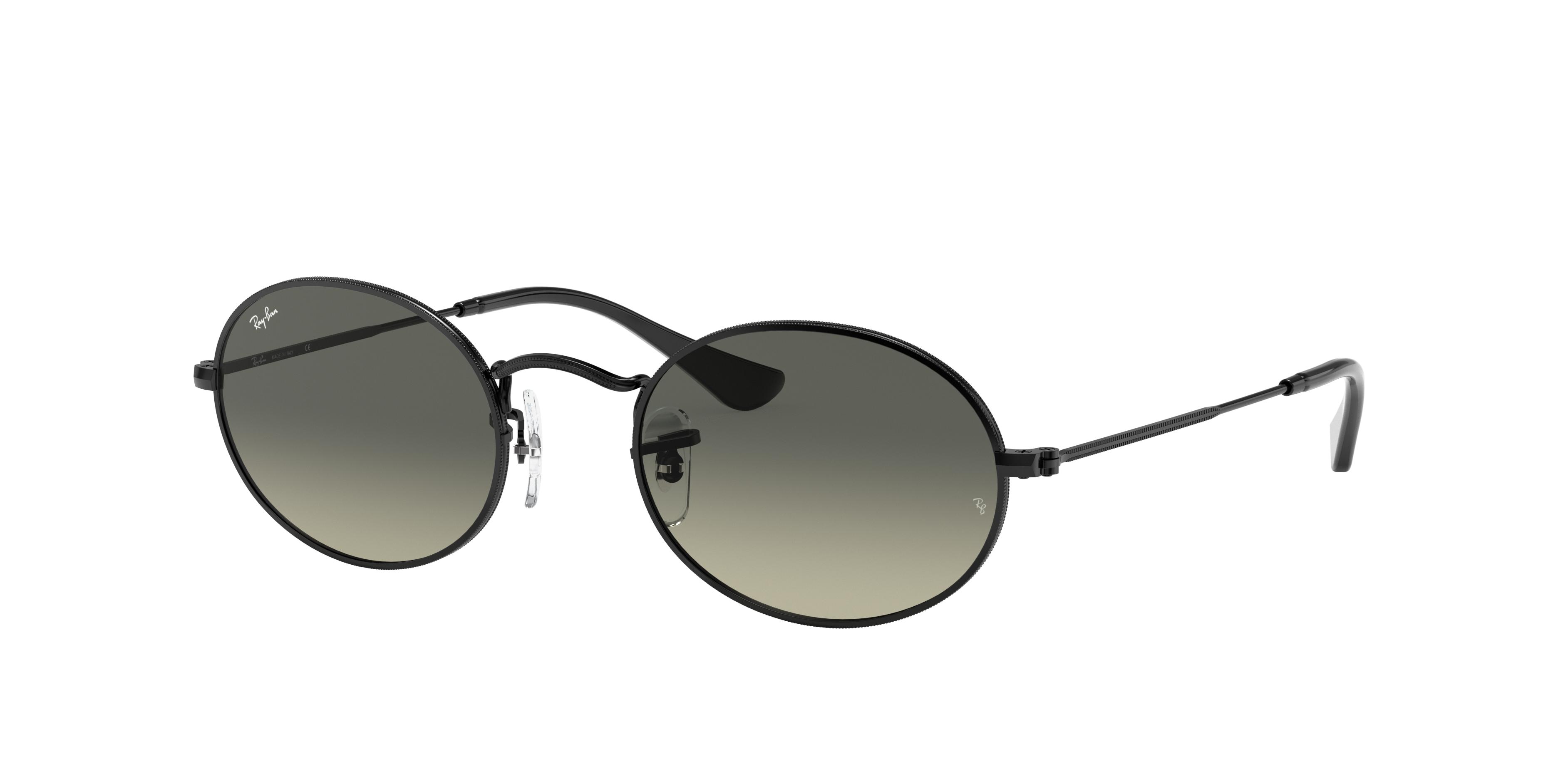 Ray-Ban Oval Flat Lenses Black, Gray Lenses - RB3547N