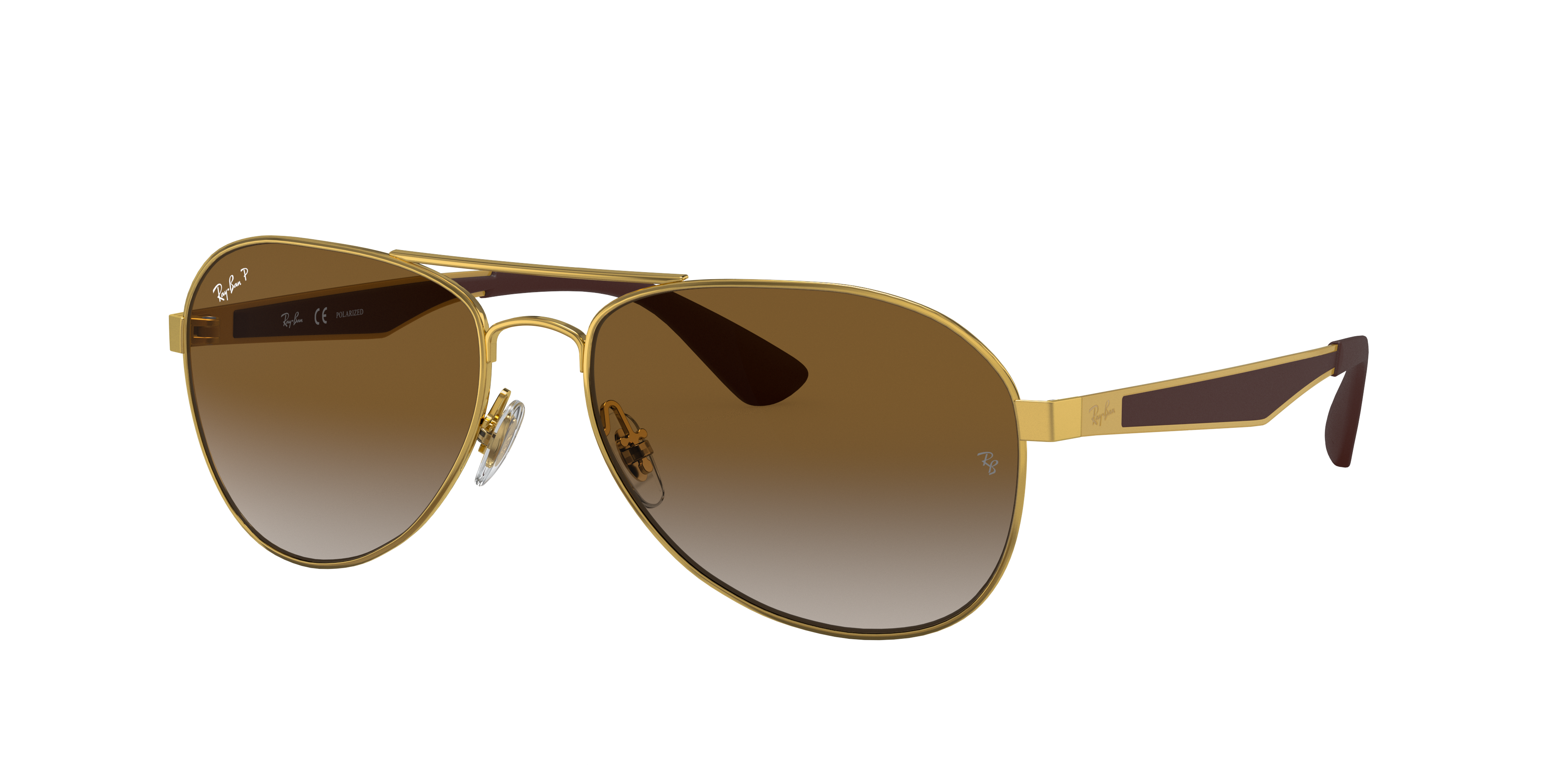 Ray-Ban Rb3549 Gold, Polarized Brown Lenses - RB3549
