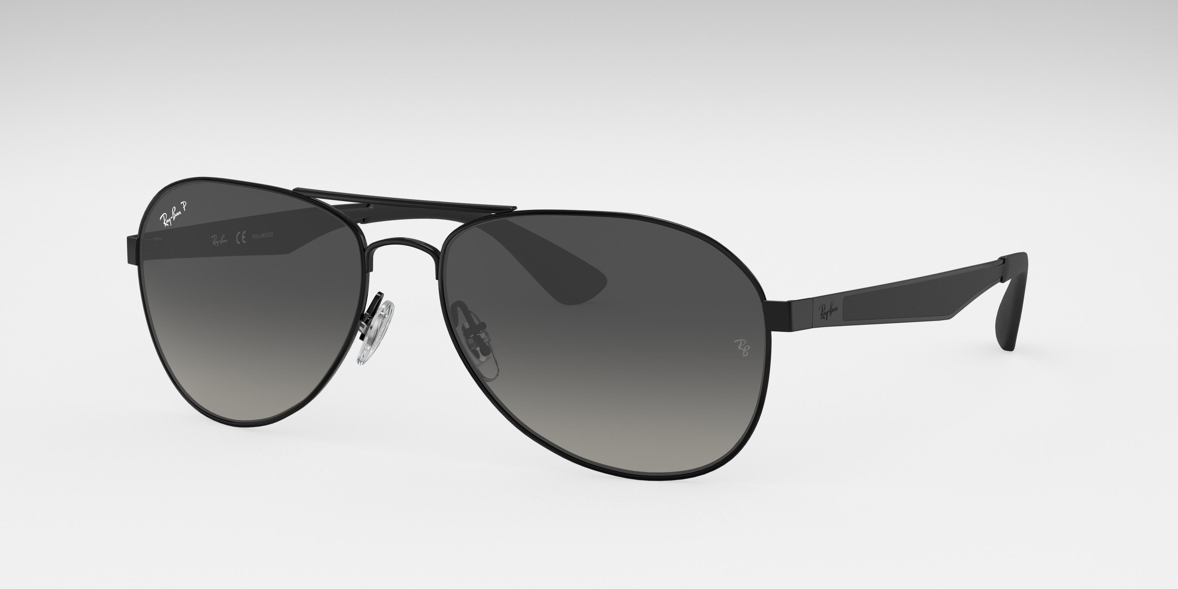 Ray-Ban Rb3549 Black, Polarized Gray Lenses - RB3549