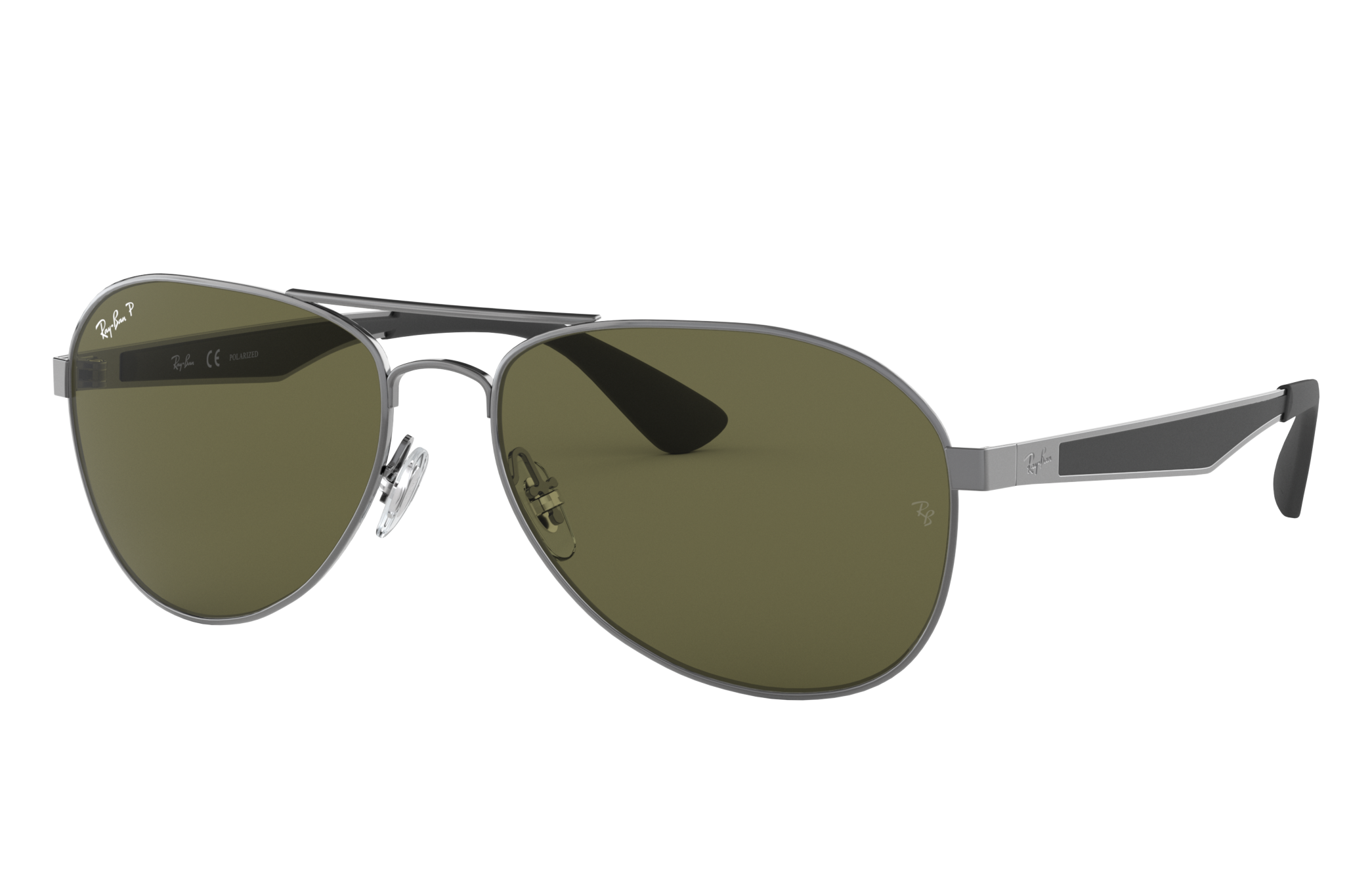 Ray-Ban Rb3549 Gunmetal, Polarized Green Lenses - RB3549