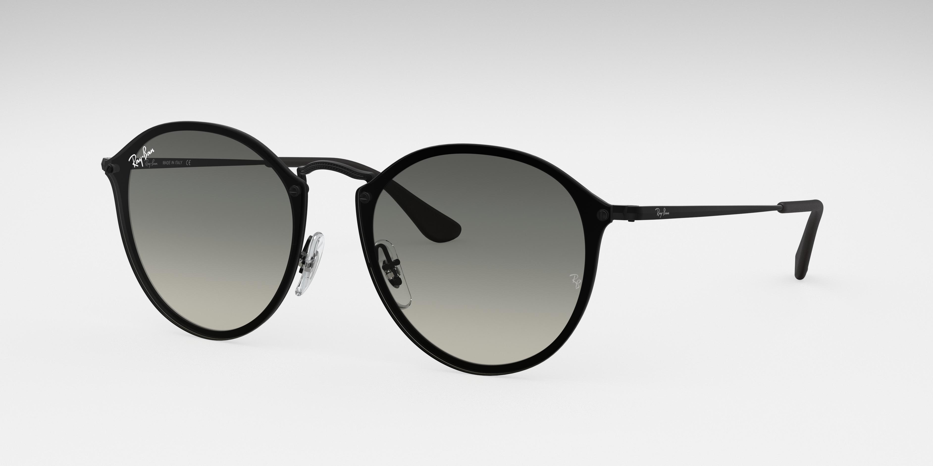 Ray-Ban Blaze Round Black, Gray Lenses - RB3574N