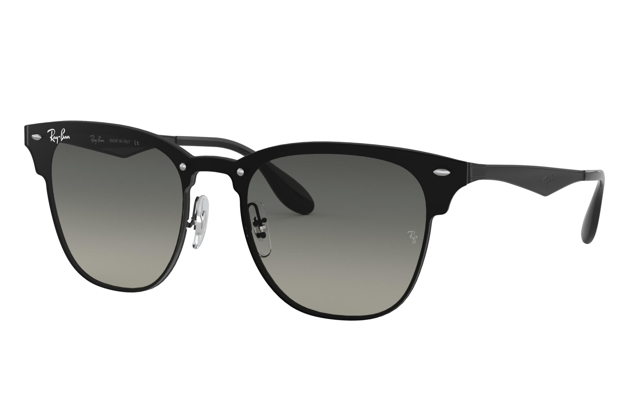 Ray-Ban Blaze Clubmaster Black, Gray Lenses - RB3576N