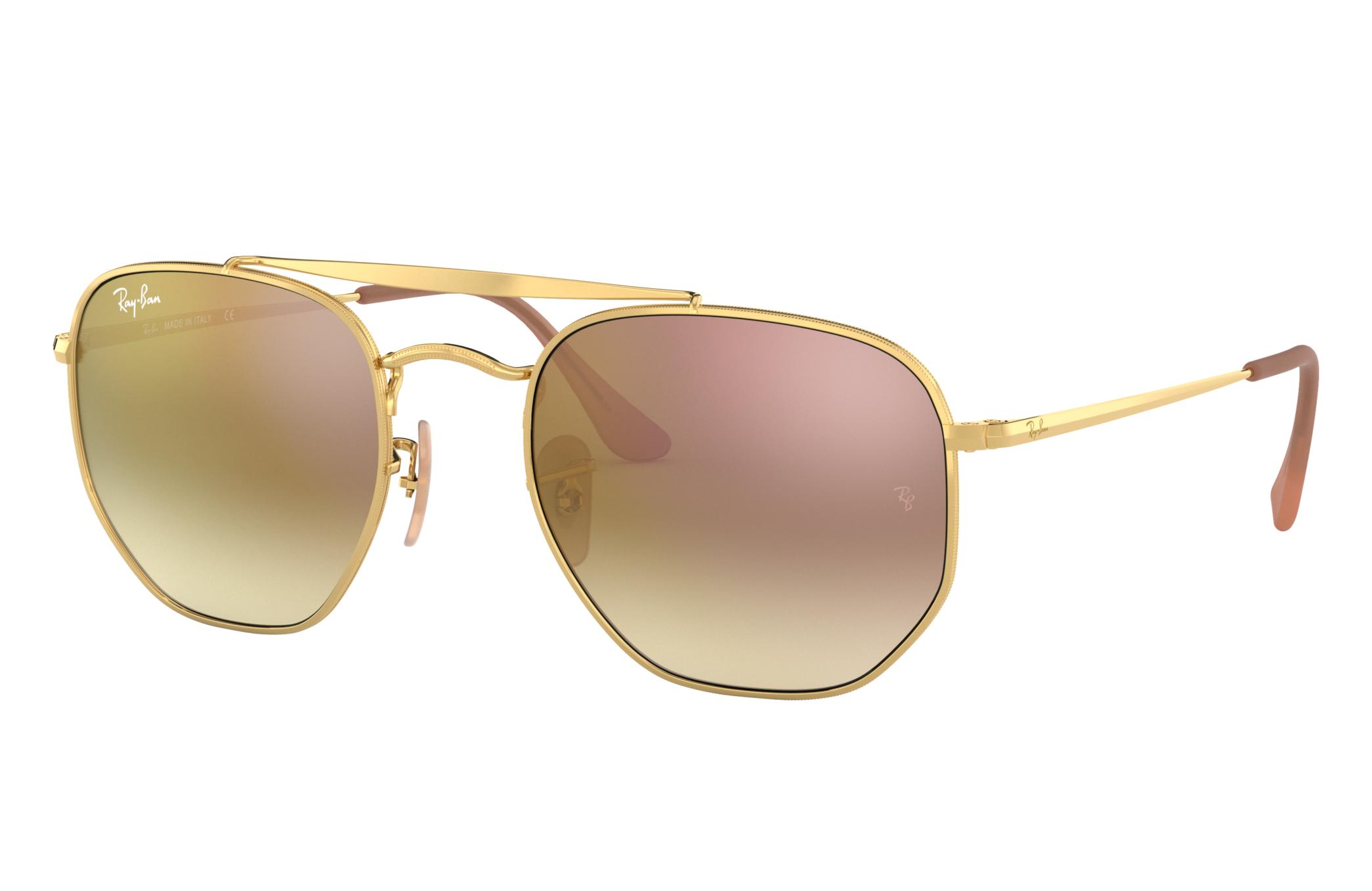 Ray-Ban Marshal Gold, Pink Lenses - RB3648