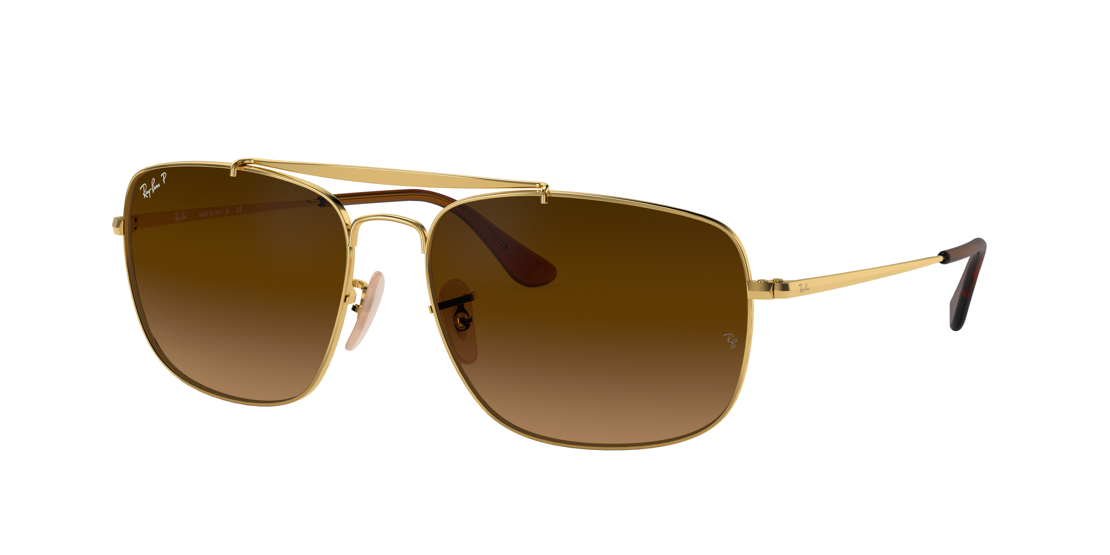 Ray-Ban Colonel Gold, Polarized Brown Lenses - RB3560