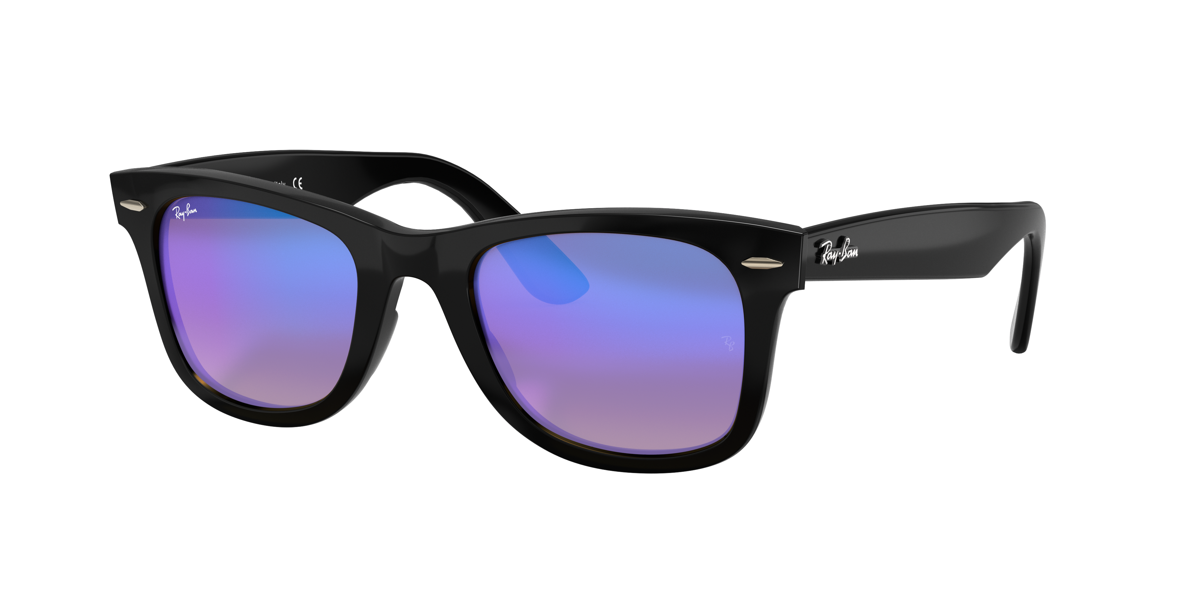 Ray-Ban Wayfarer Ease Black, Blue Lenses - RB4340