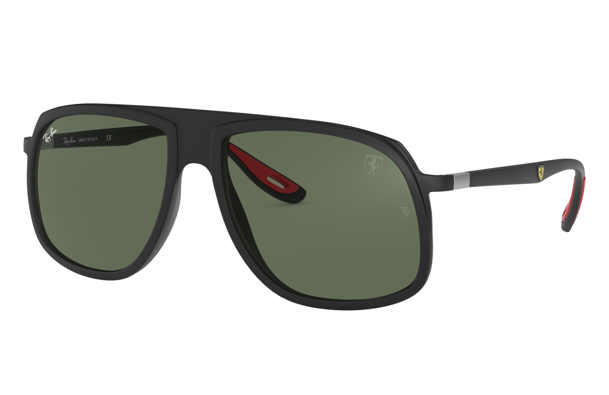 Ray-Ban Rb4308m Scuderia Ferrari Collection Black, Green Lenses - RB4308M