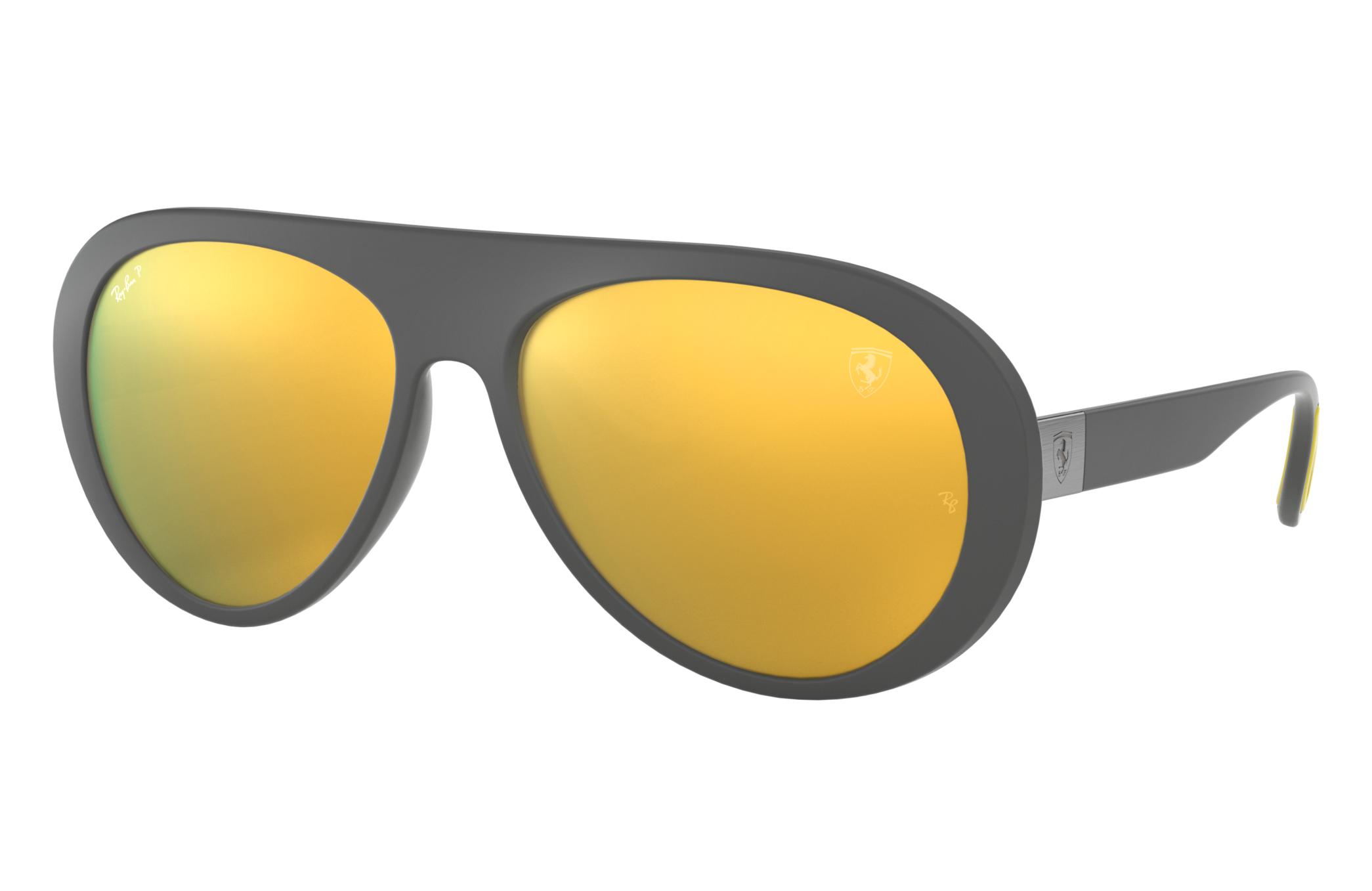 Ray-Ban Scuderia Ferrari Collection Rb4310m Grey, Polarized Yellow Lenses - RB4310M