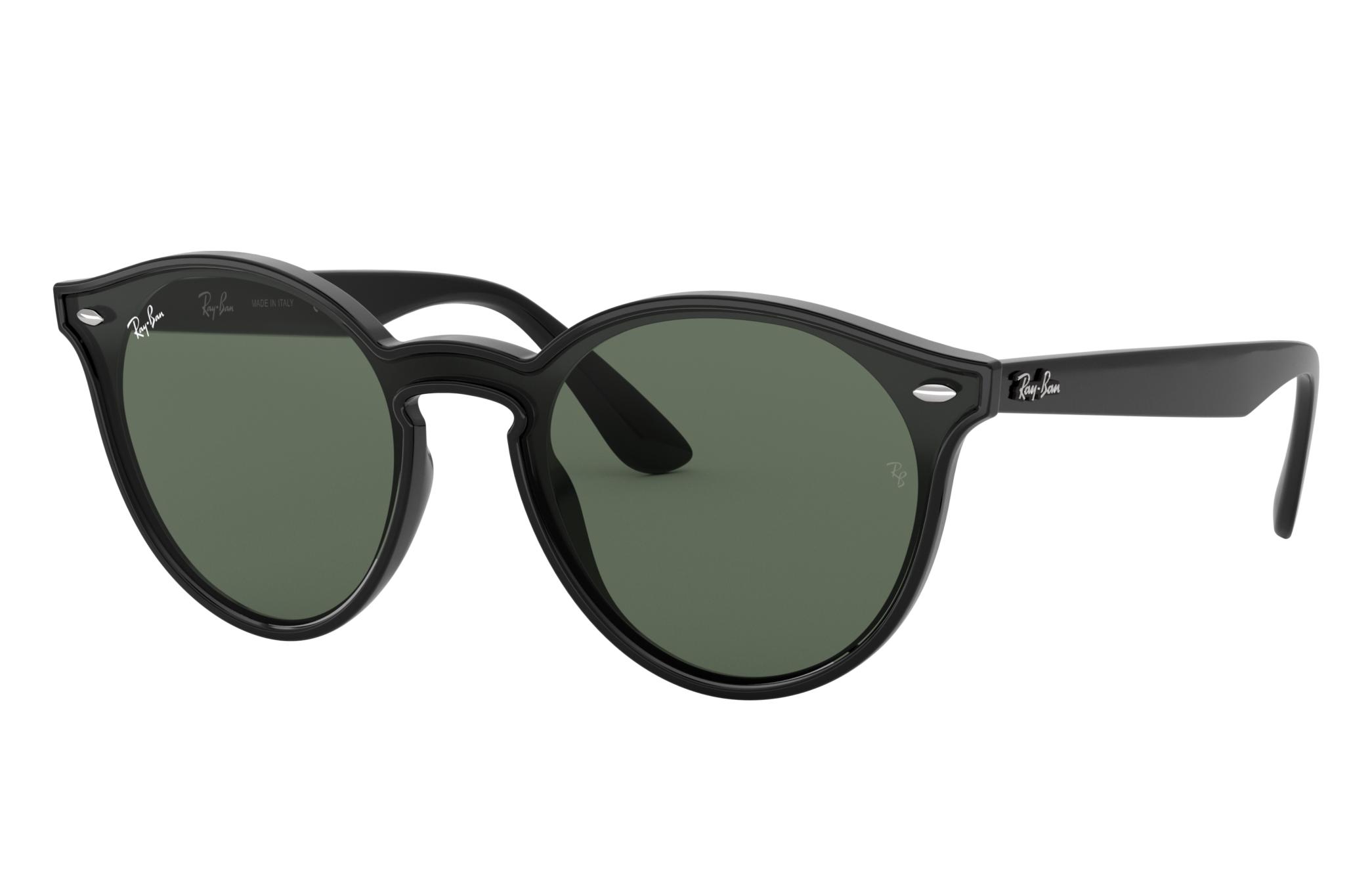 Ray-Ban Blaze Rb4380n Black, Green Lenses - RB4380N