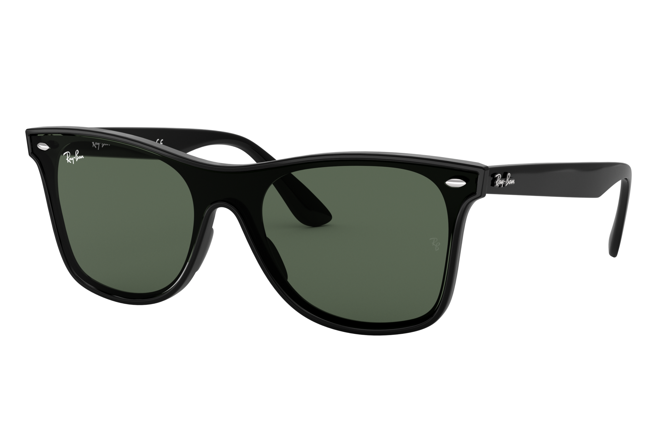 Ray-Ban Blaze Wayfarer Black, Green Lenses - RB4440N